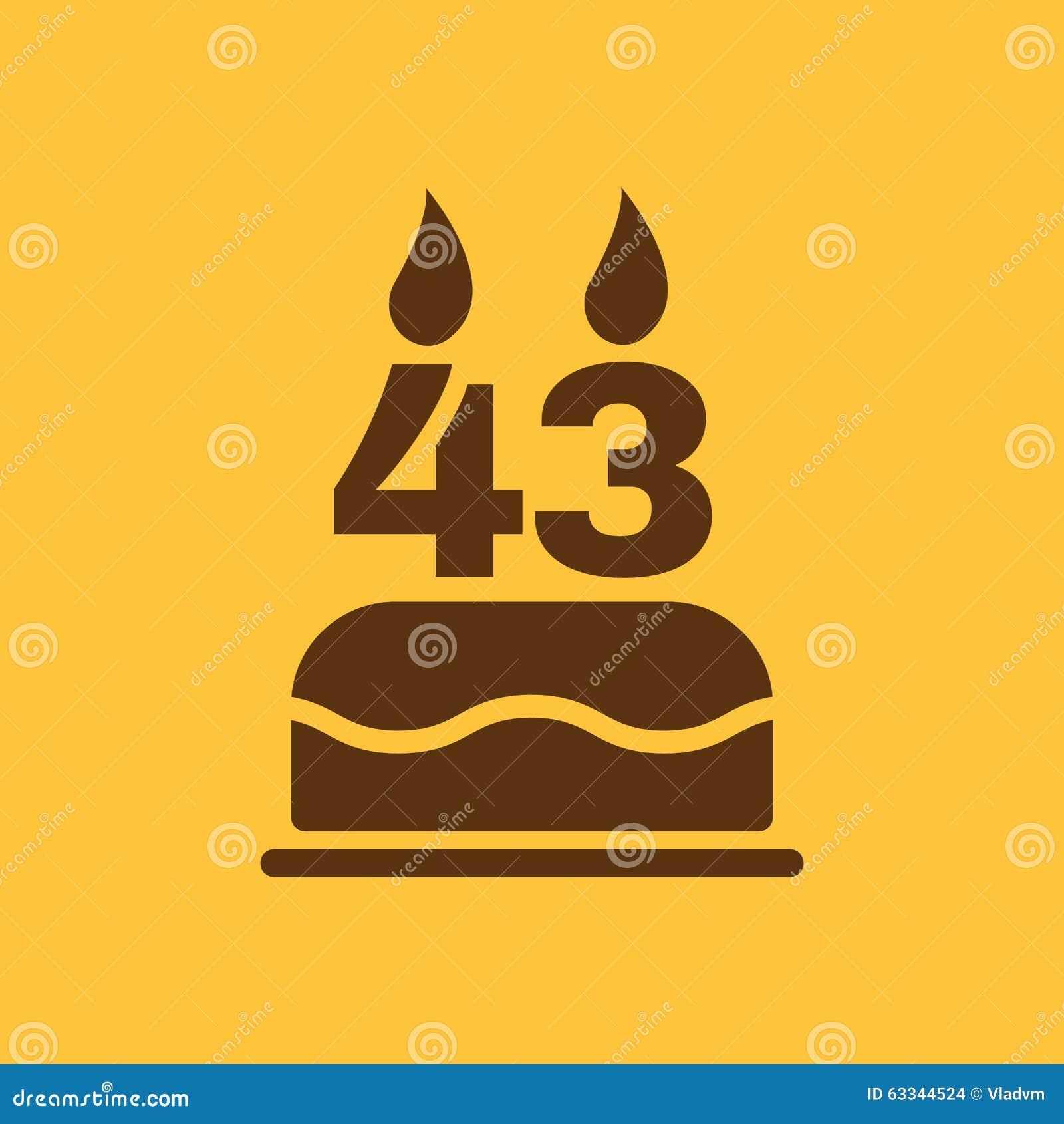 La Torta Di Compleanno Con Le Candele Sotto Forma Di Icona Di Numero