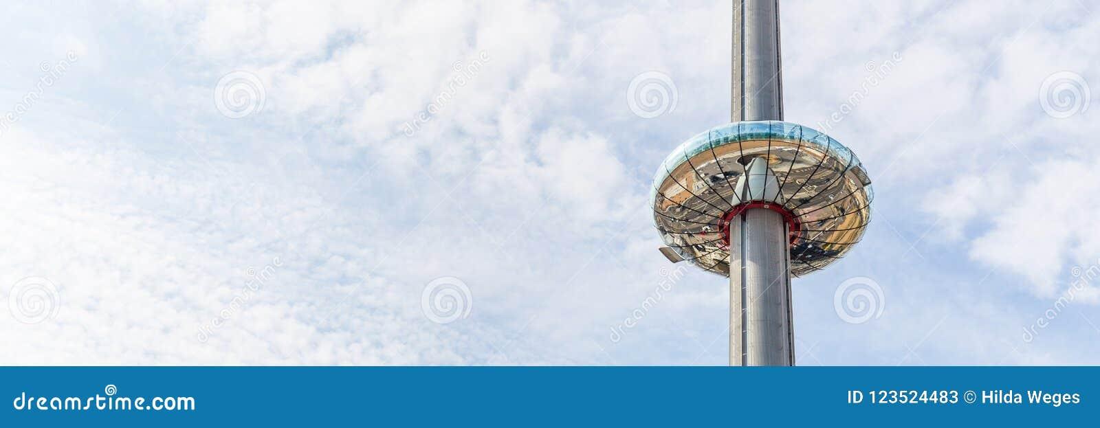 La tour d observation à Brighton, le Sussex, R-U