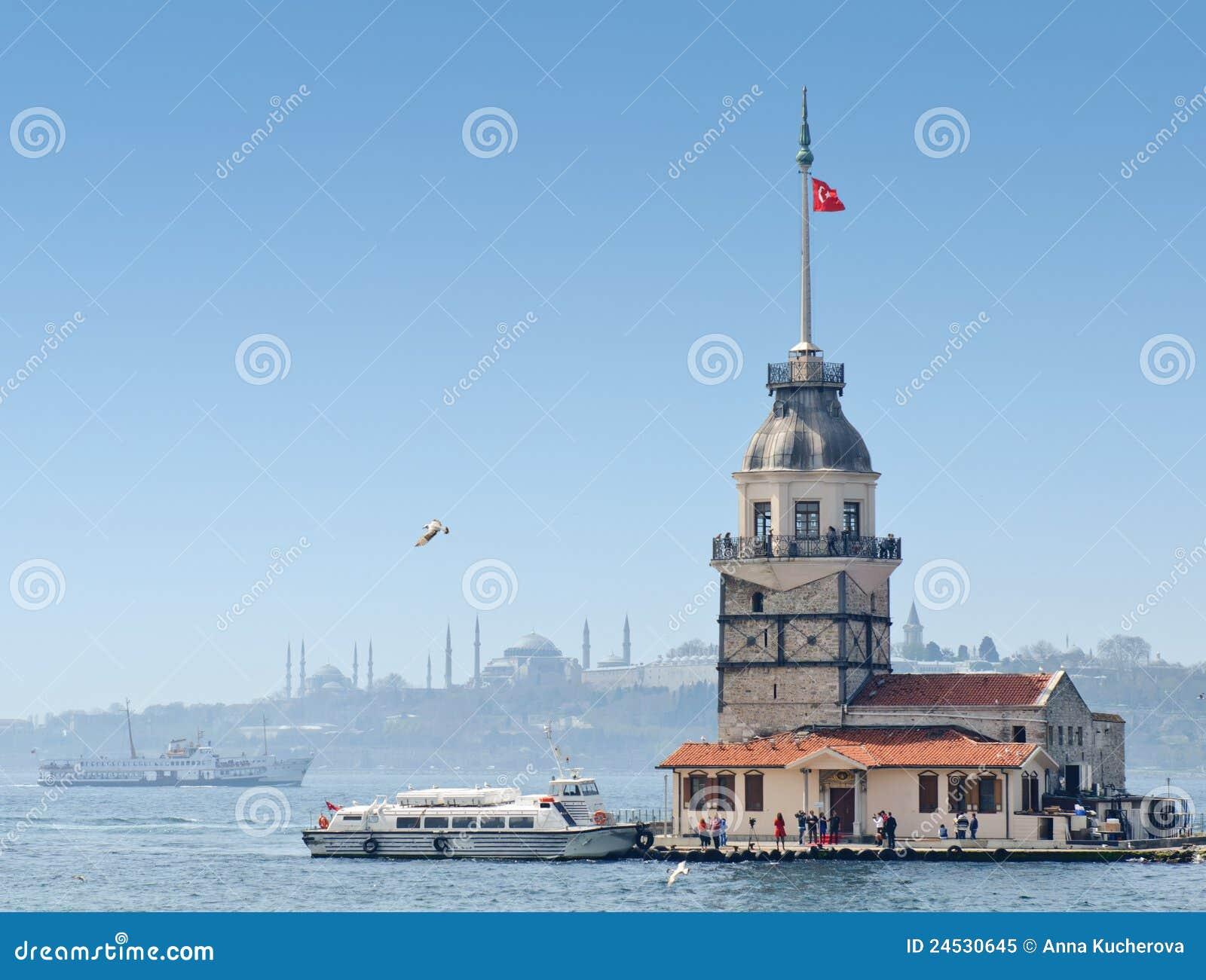 La tour de la fille à Istanbul, Turquie
