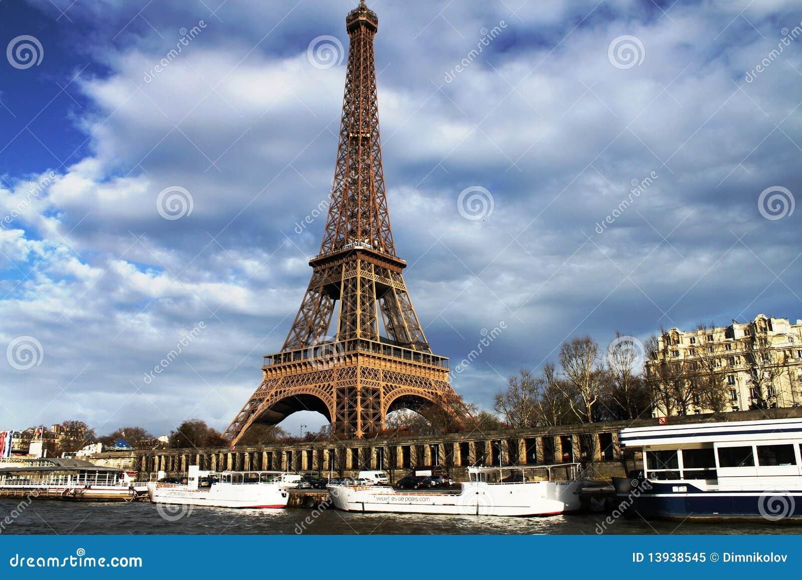La Tour Eiffel (The Eiffel Tower) Royalty Free Stock Photo - Image: 13938545