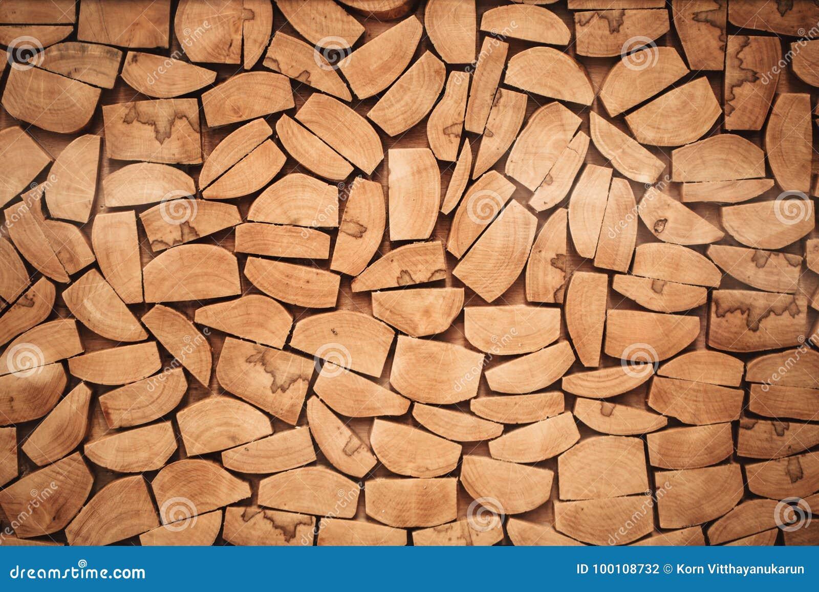 La Tranche En Bois De Rondin A Coupé La Texture En Bois De Mur De