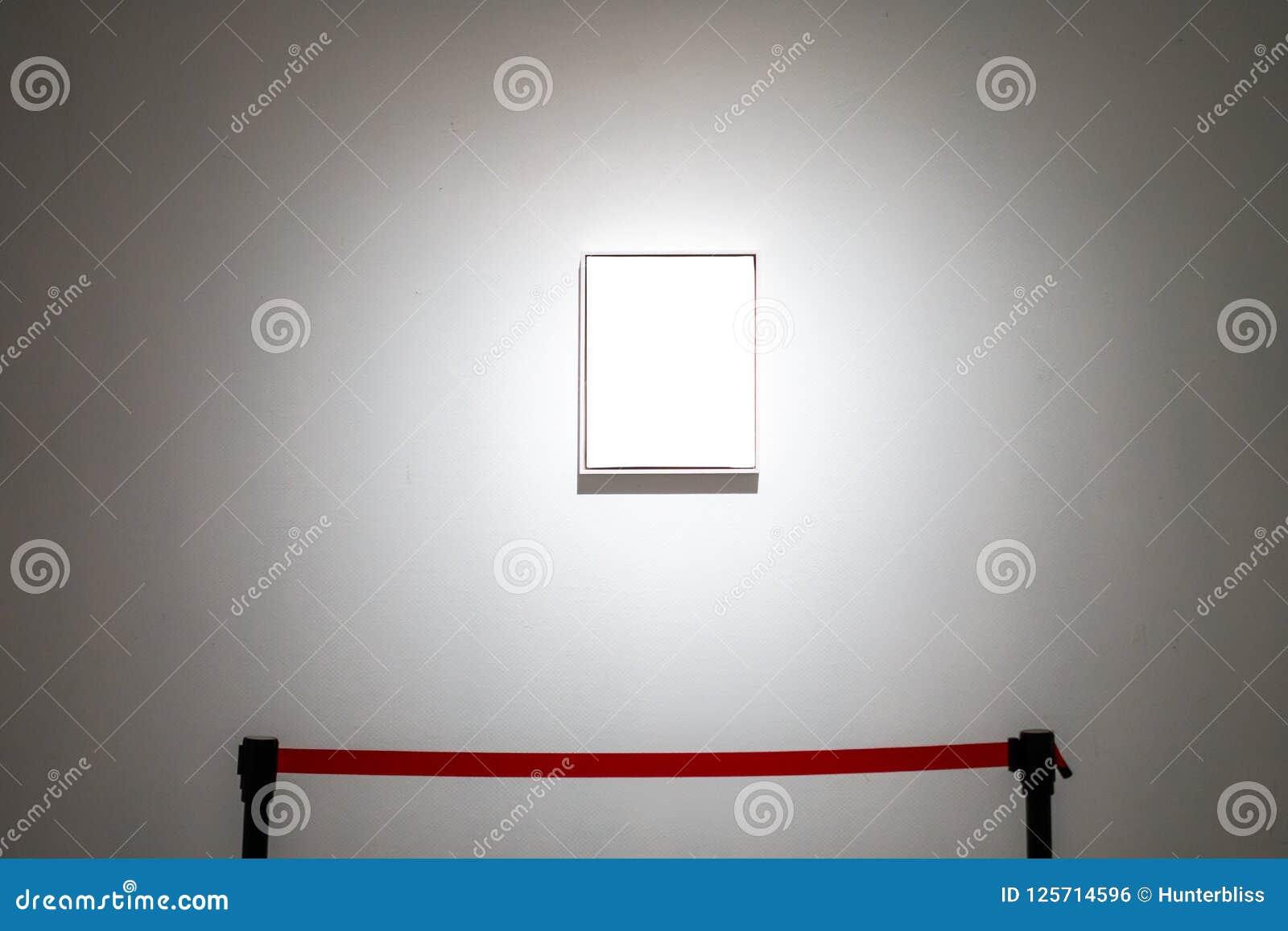La trayectoria de recortes blanca de la exposición de Art Gallery Museum Blank Frame es