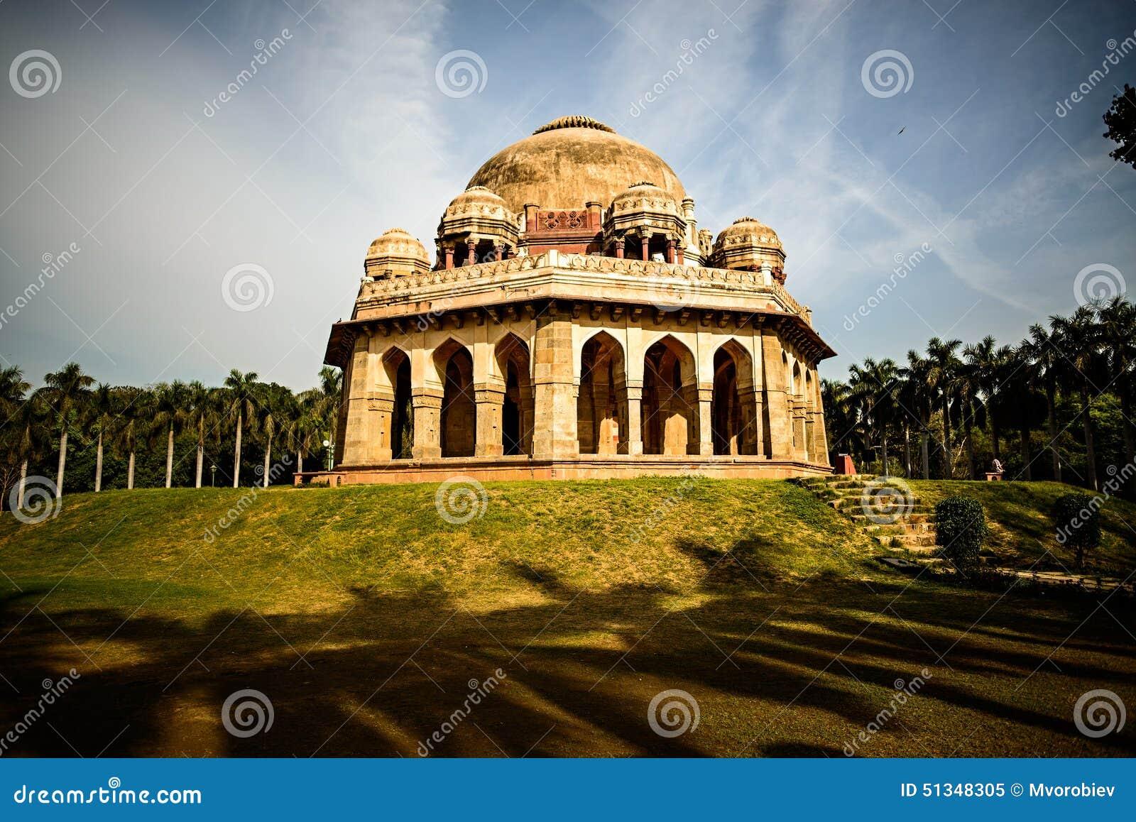 La tumba de Mohammed Shah en los jardines de Lodi
