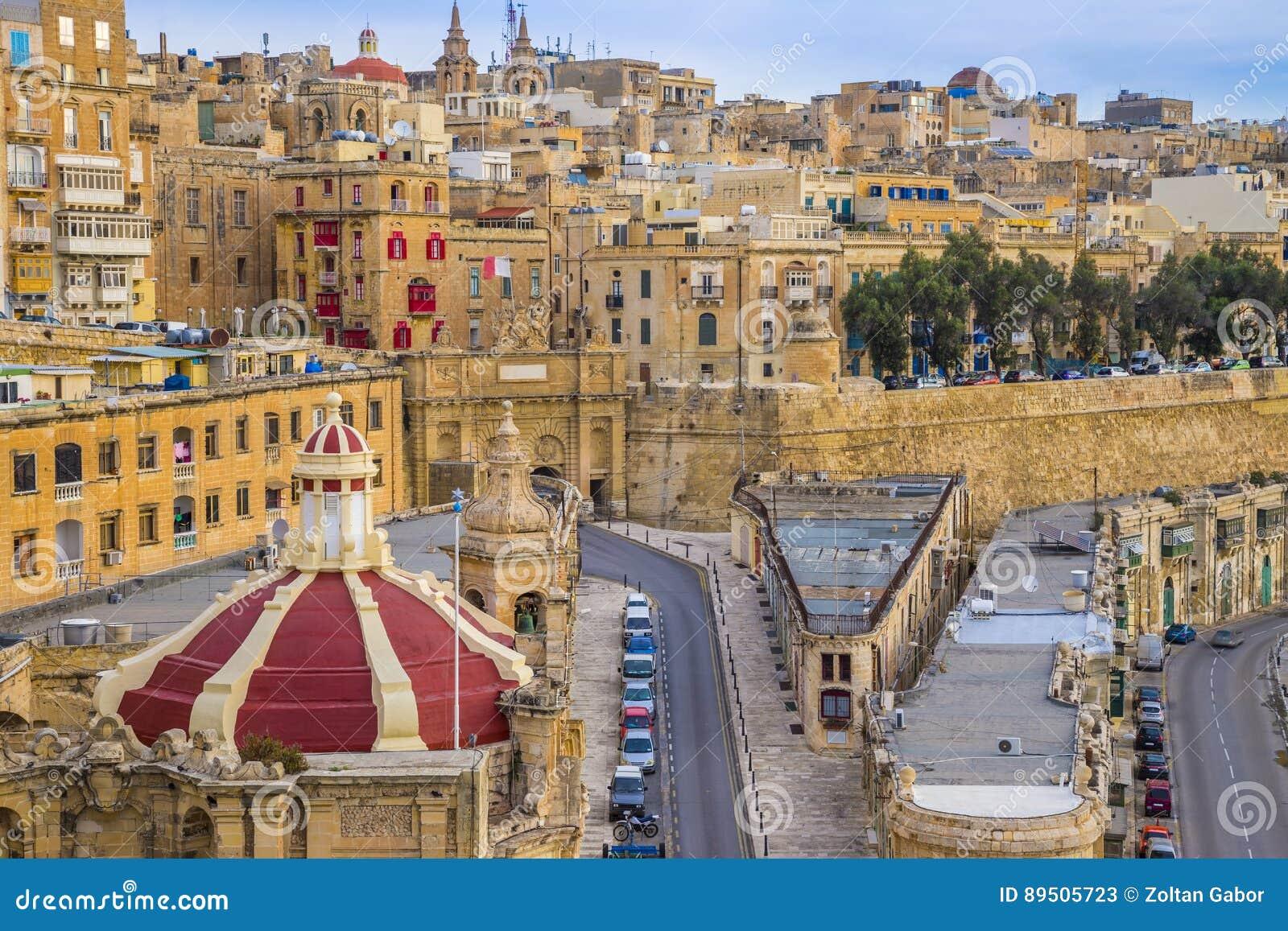 La Valeta, Malta - salida del sol en La Valeta