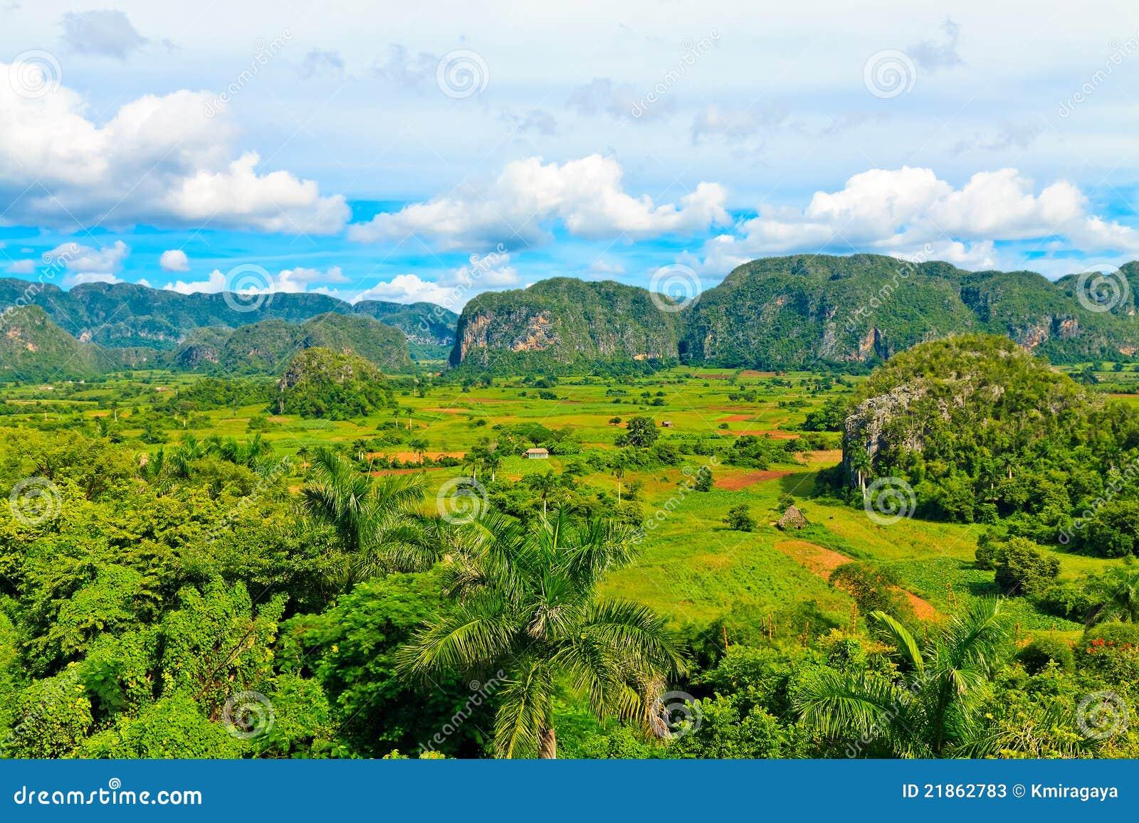 La vallée de Vinales au Cuba