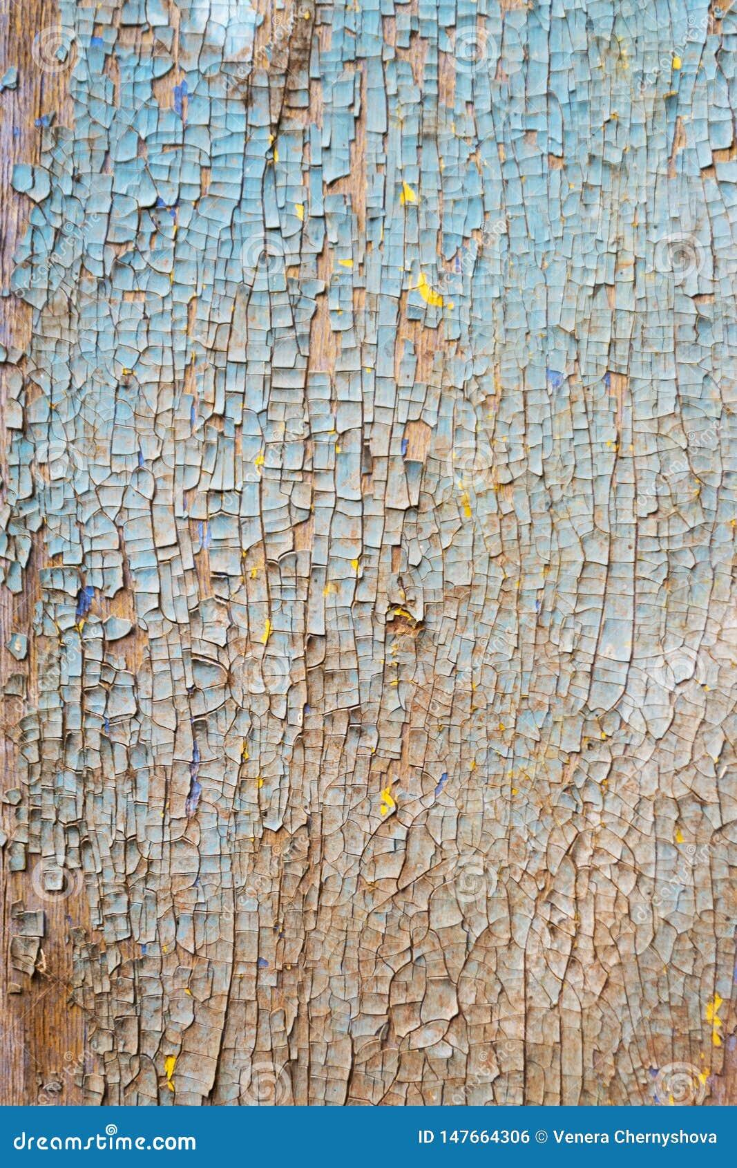 La vecchia parete di legno arrugginita ha dipinto blu Struttura dettagliata della foto
