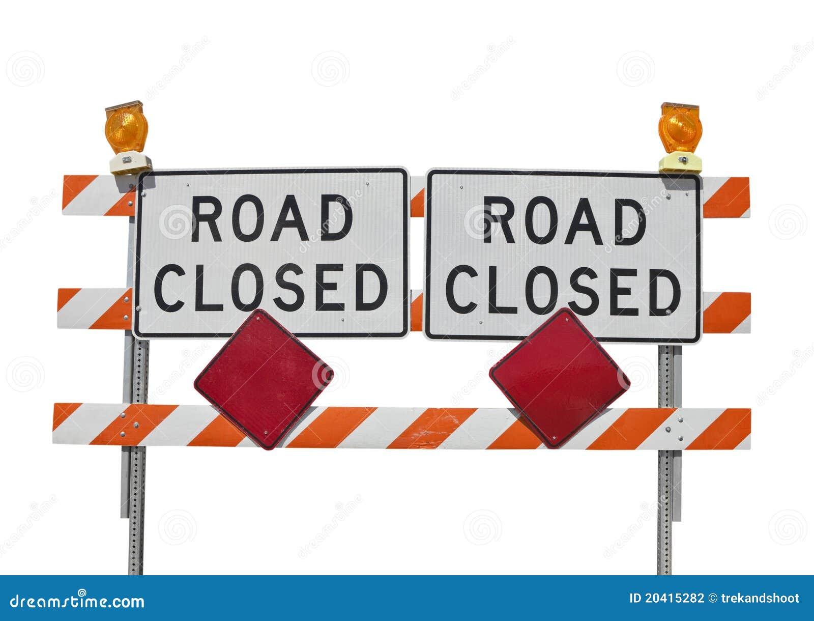 La vecchia strada ha chiuso il segno isolato