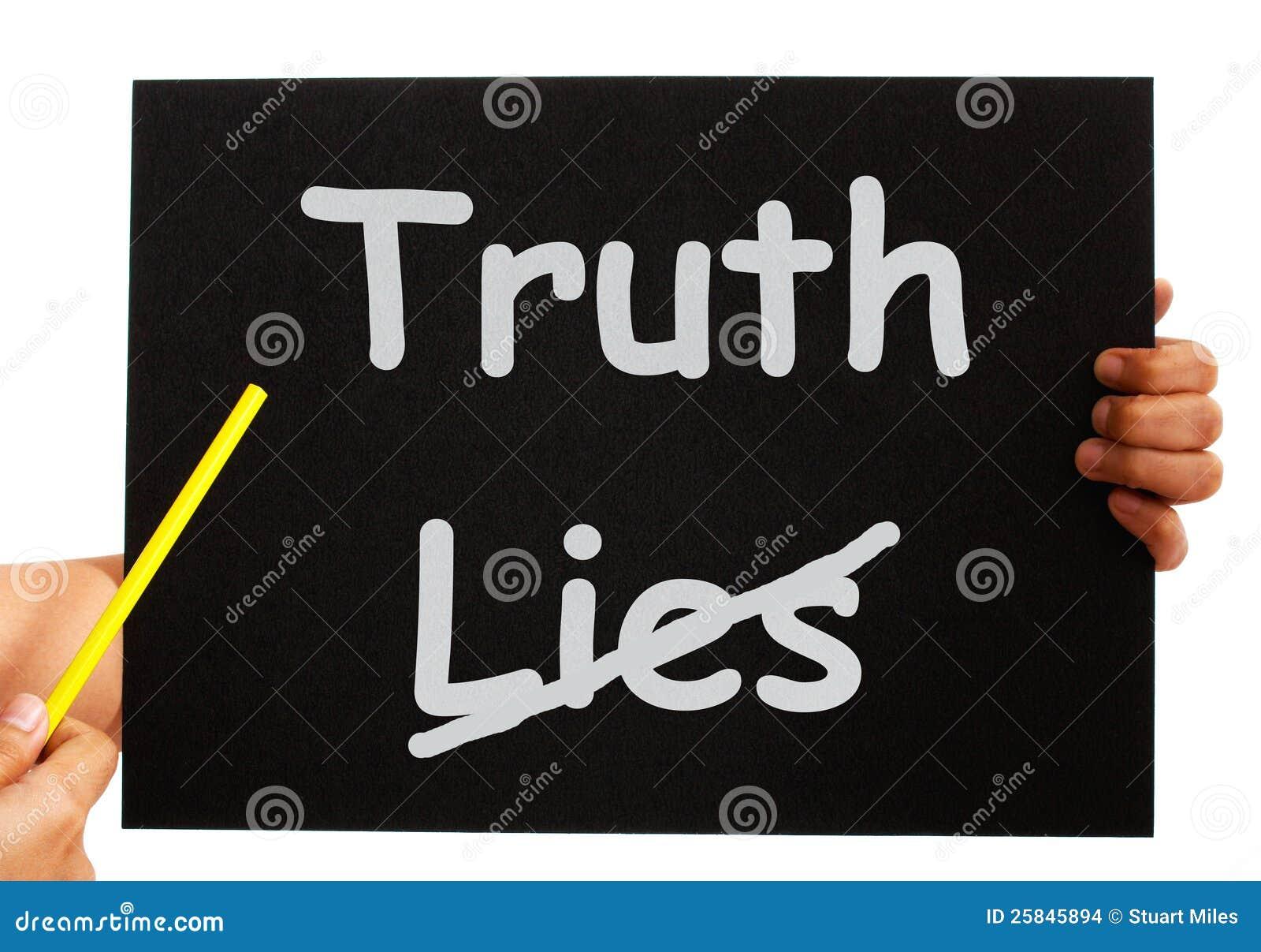 La verdad no miente honradez de las demostraciones del tablero