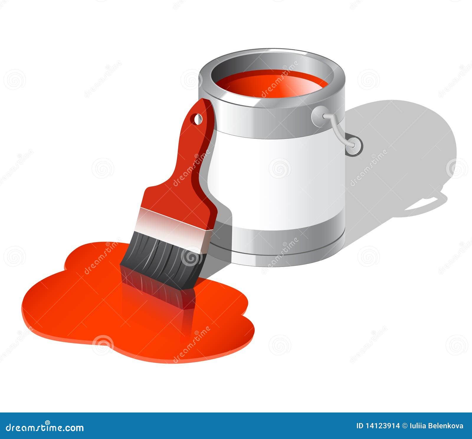 La vernice può con la spazzola