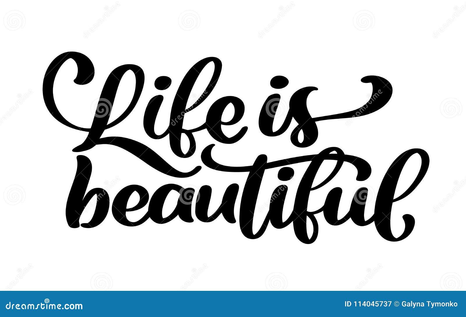 La Vie Est Belle Remettez à Inscription De Lettrage L