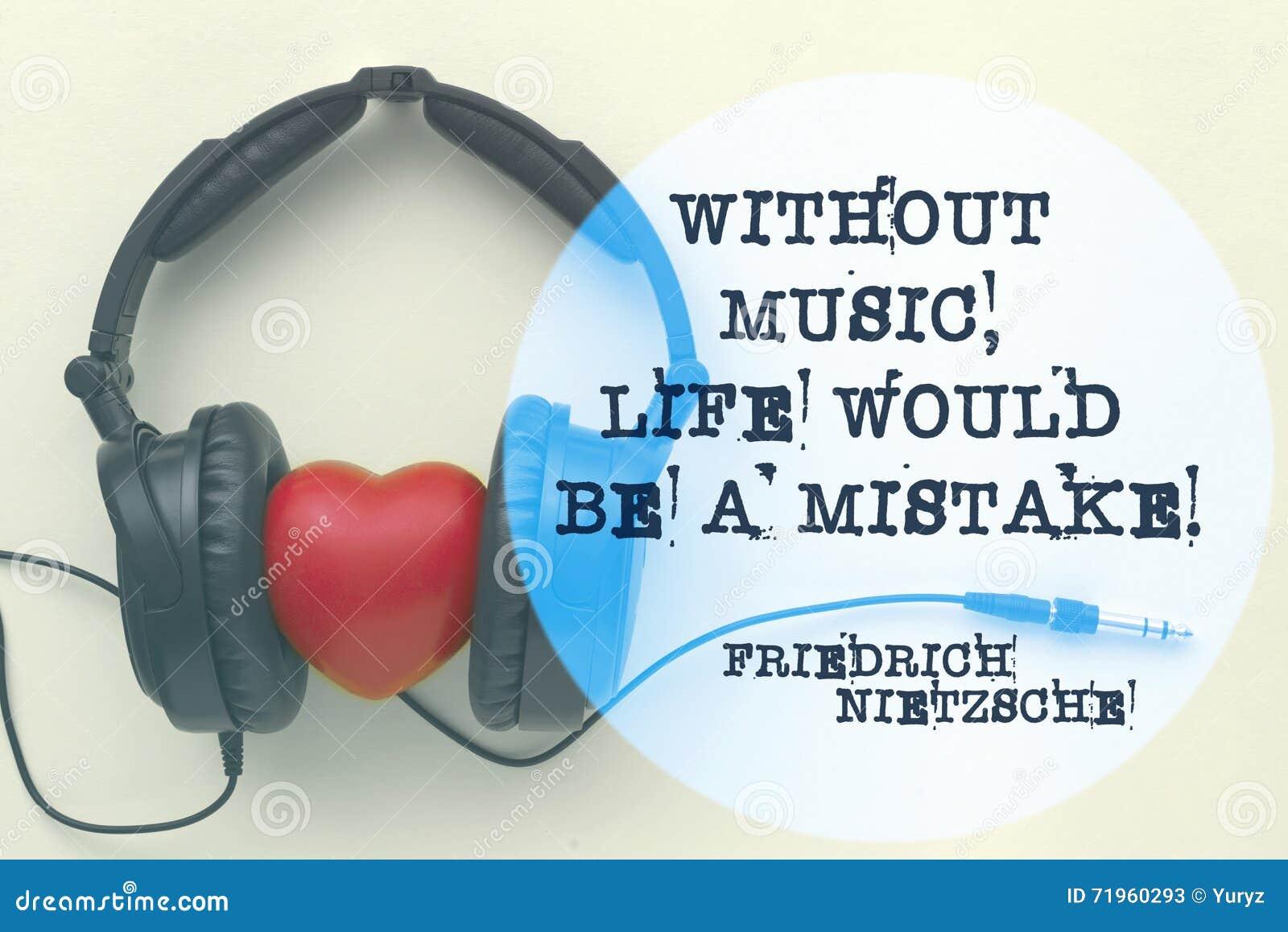 La Vie Nietzsche De Musique Image Stock Image Du Citation
