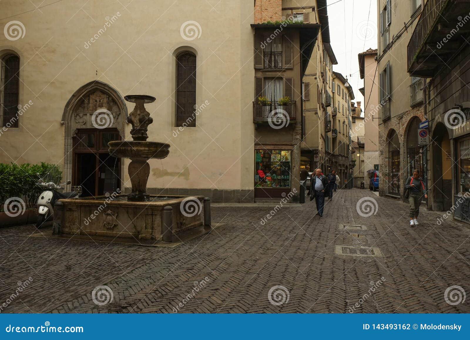 La vieille ville ? Bergame, Italie
