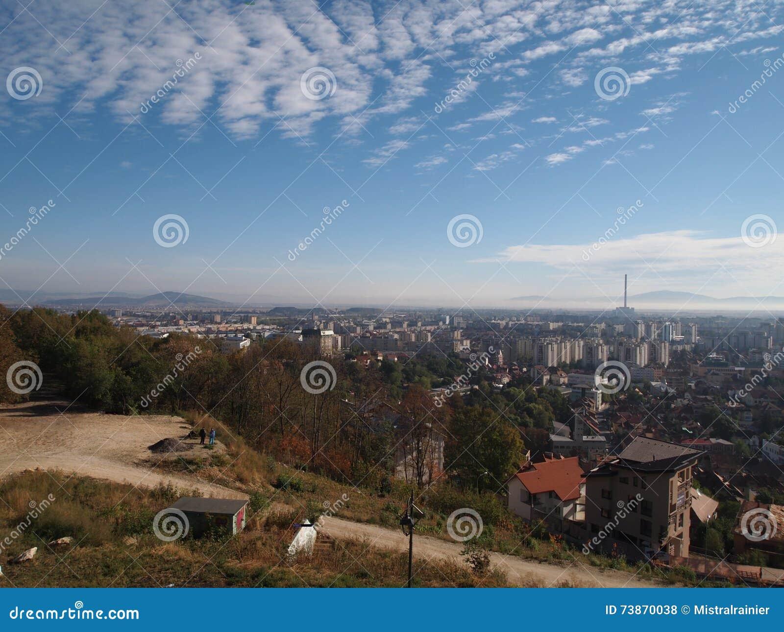 La vieille ville de la ville roumaine brasov