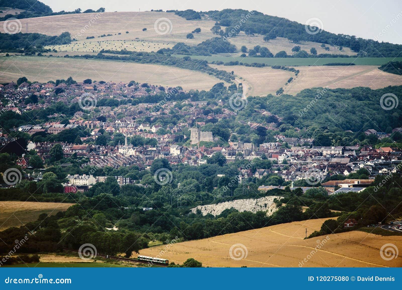 La ville du comté de Lewes dans le Sussex est, Angleterre