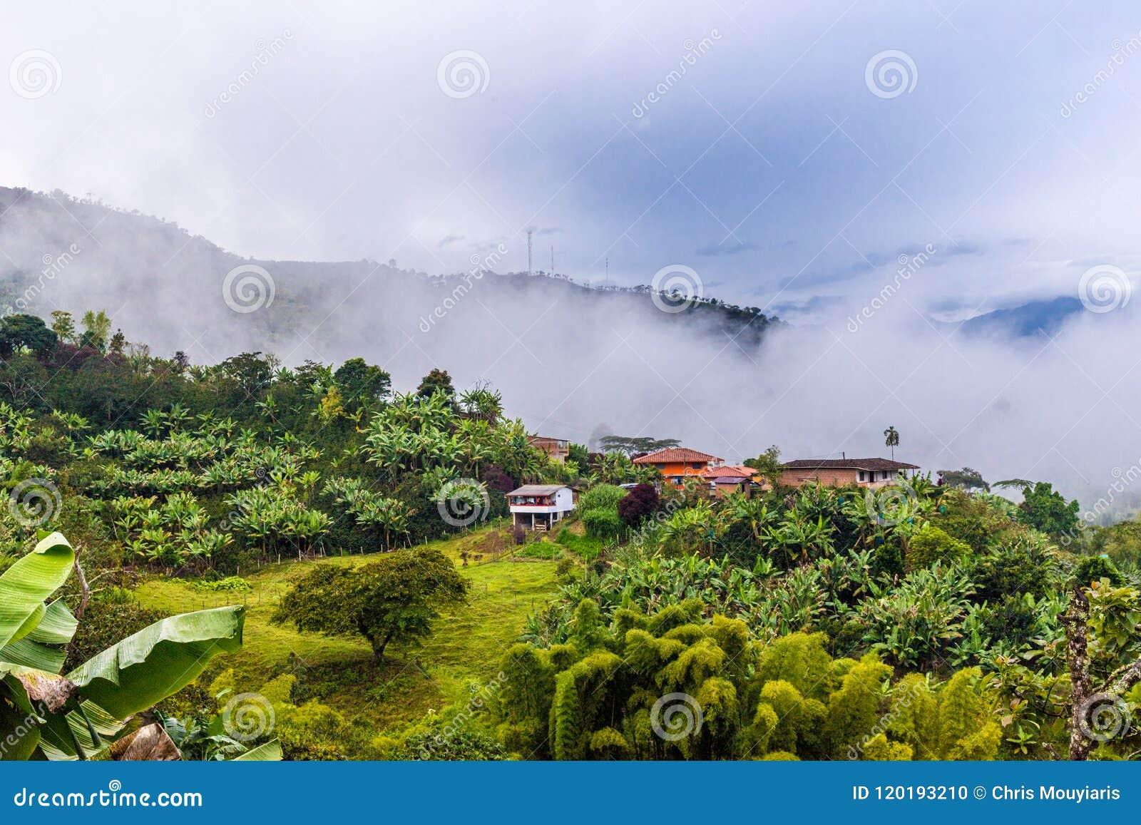 La Ville Pittoresque Coloree De Jardin En Colombie Photo Stock