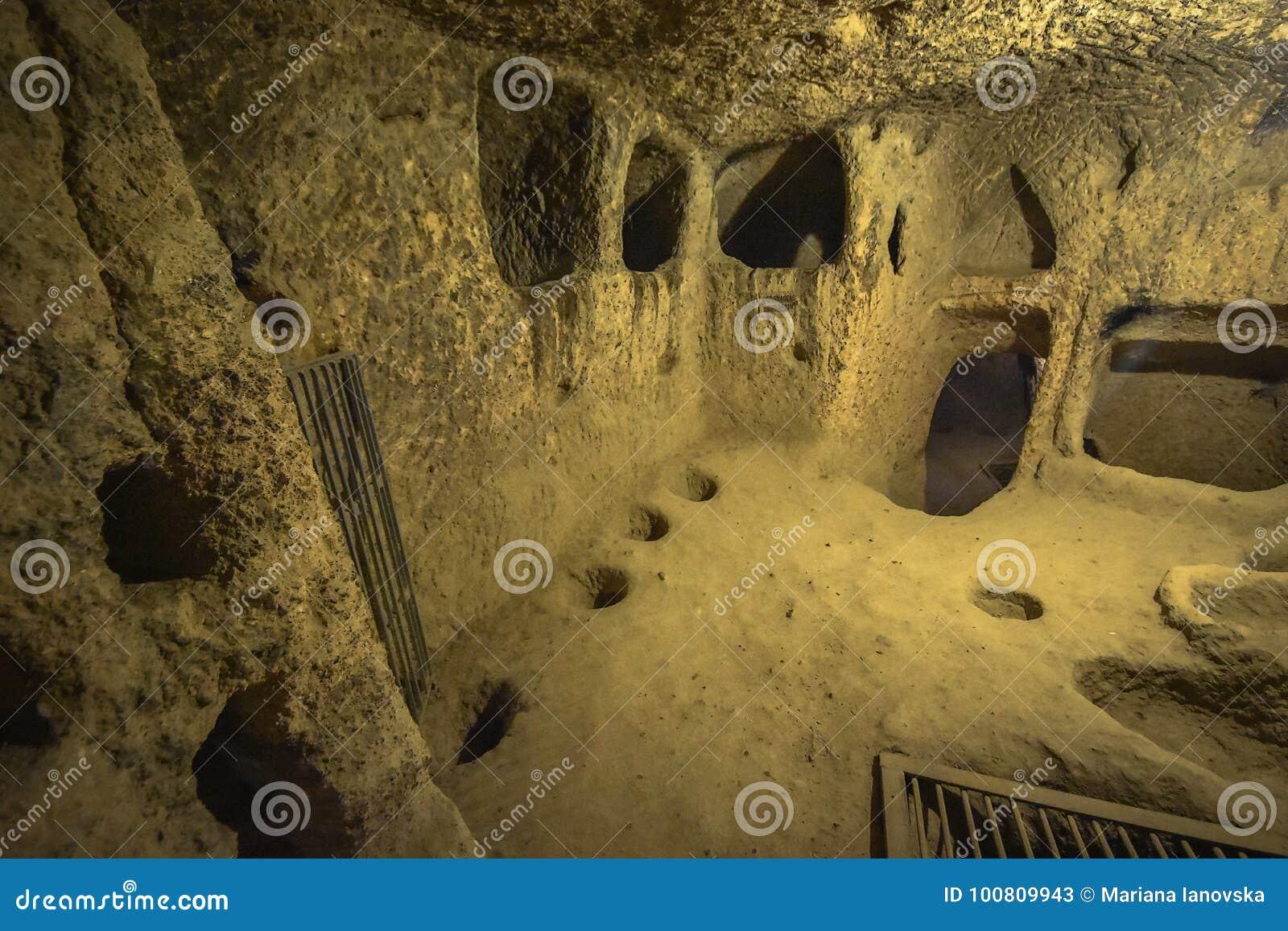 La ville souterraine de Kaymakli est contenue dans la citadelle de Kaymakli dans Anatolia Region centrale de la Turquie