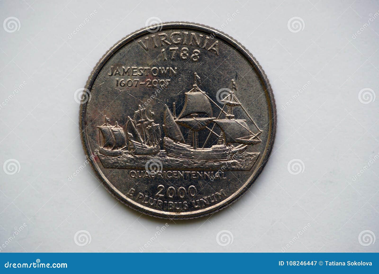 ` la Virginie de Washington Quarter de ` du 1/4 dollar