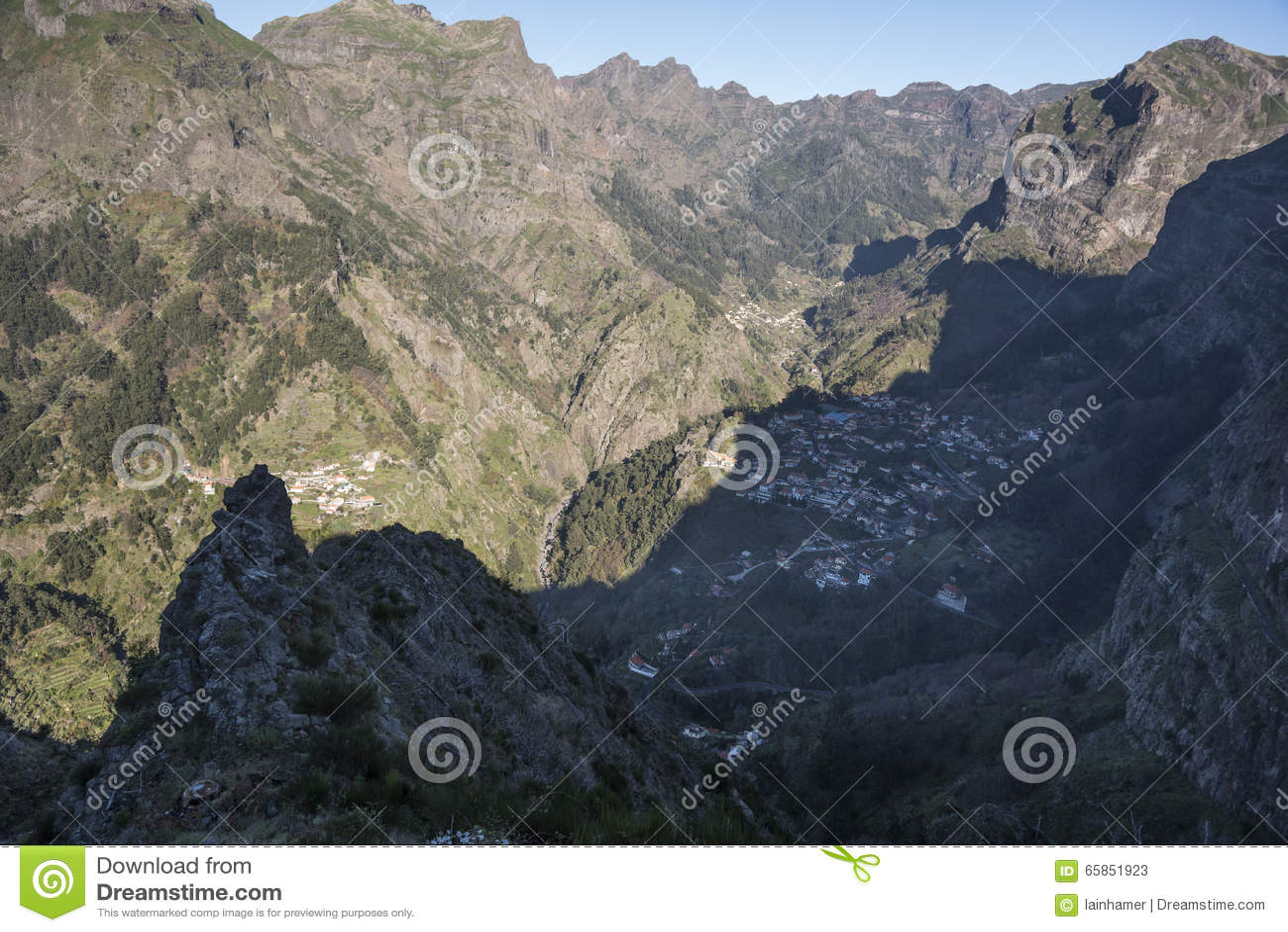 La visión desde el Eira hace Serrado Madeira Portugal
