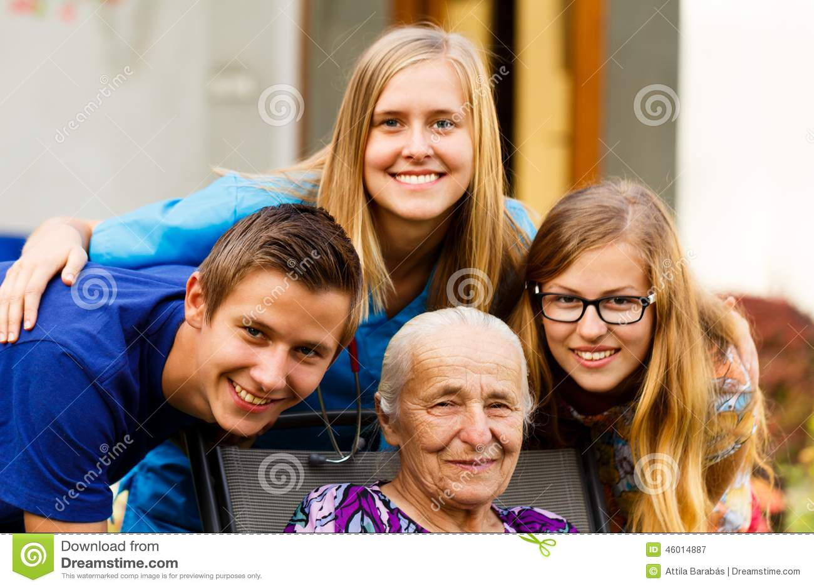 La visita de los nietos