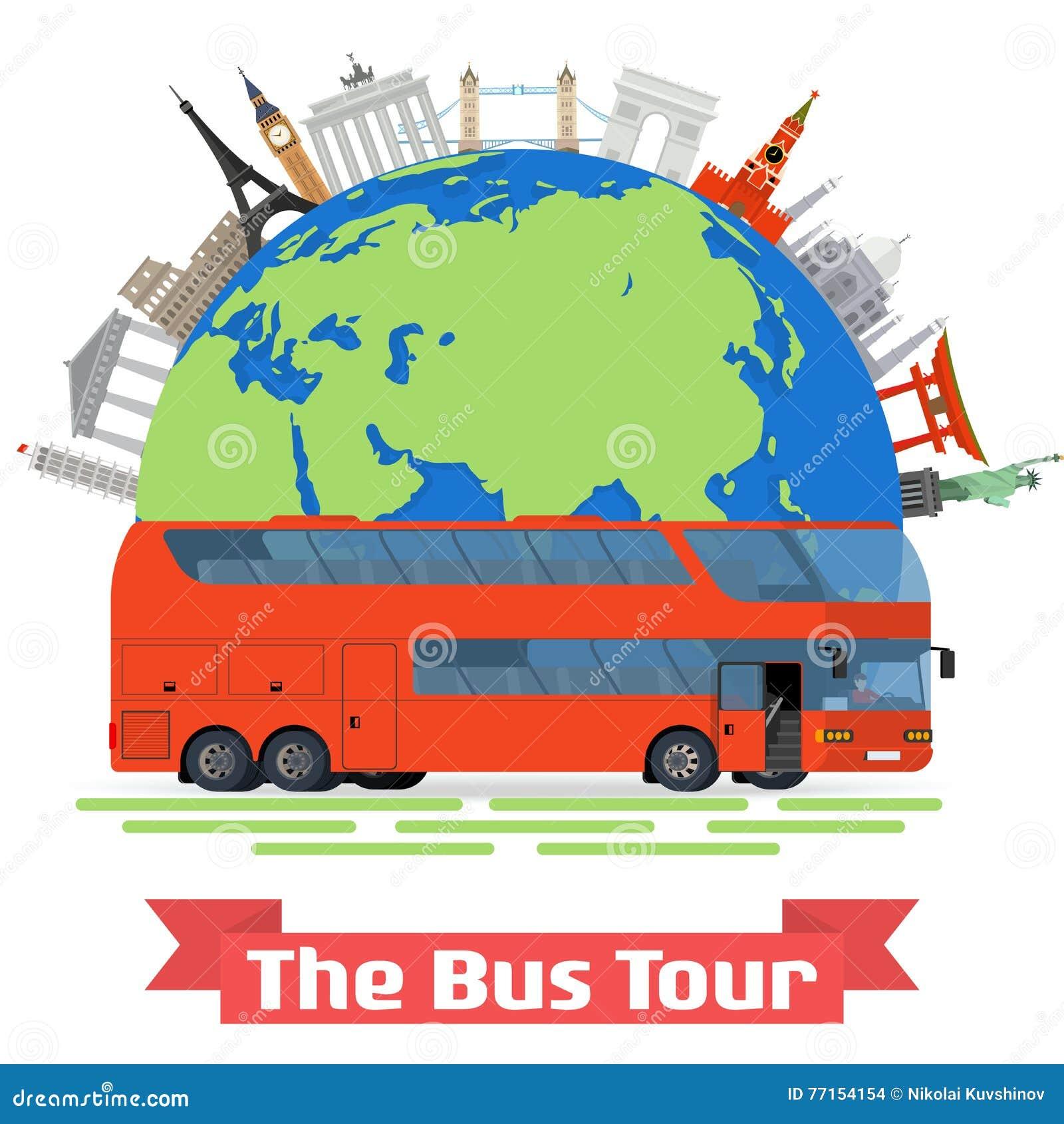 La visite d autobus de l Europe et des points de repère familiers populaires