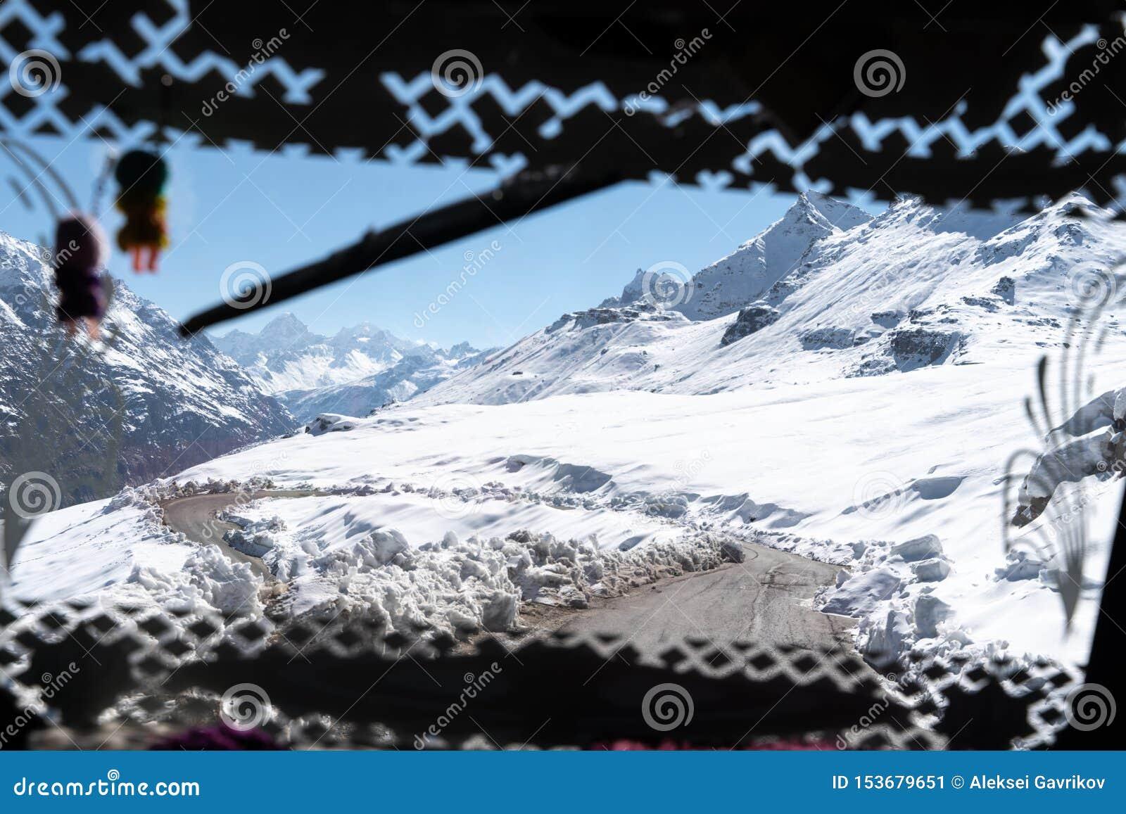 La vista dalla finestra del passeggero