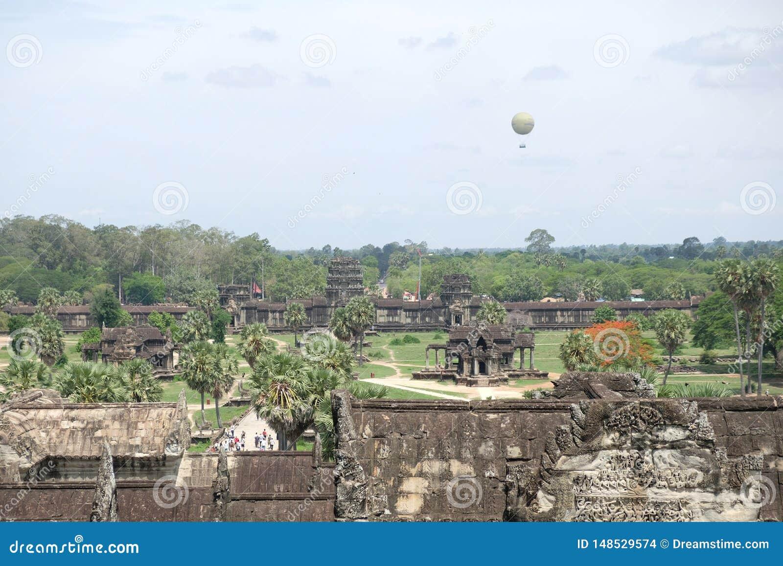 La vista de Angkor Wat, Angkor, Camboya