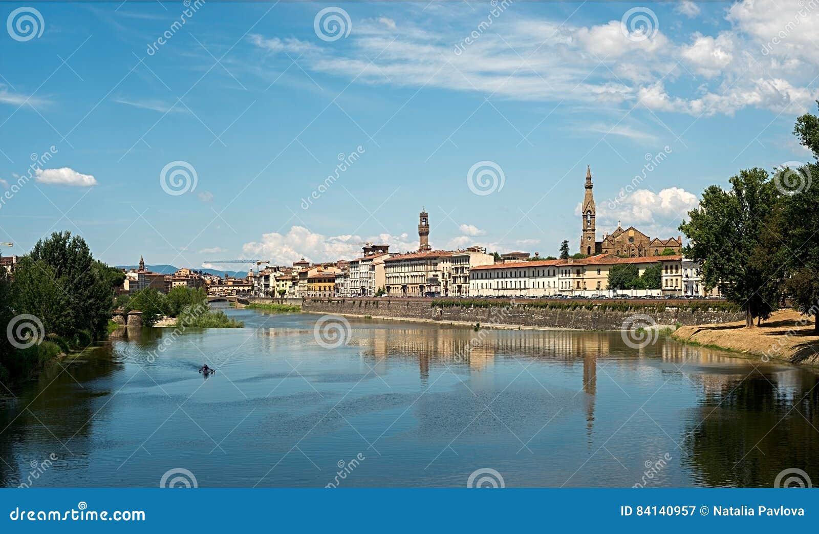 La vista di Firenze, Italia