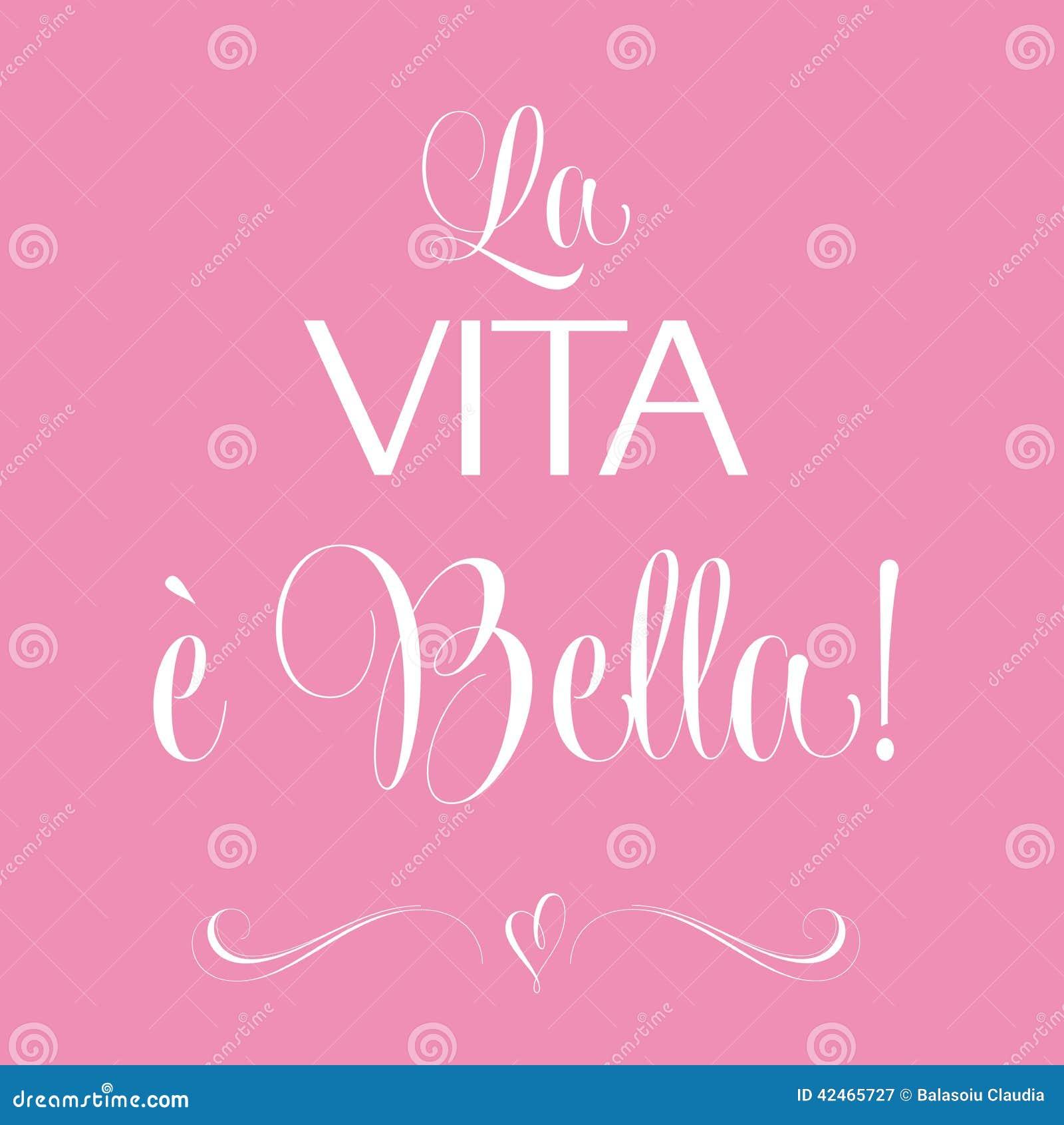 La vita e bella, zitieren typografischen Hintergrund