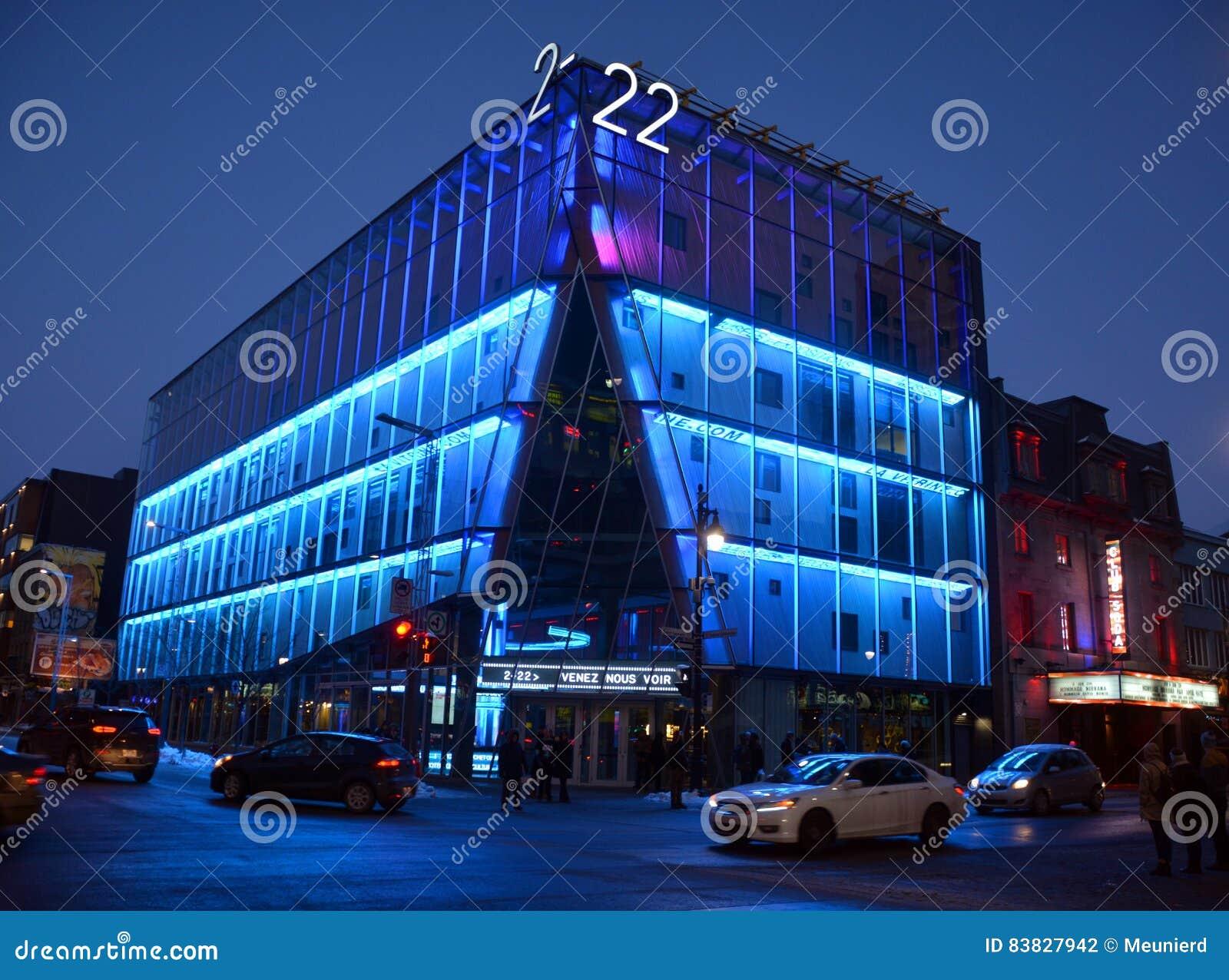 La Vitrine Culturelle De Montreal Building Editorial Photography  # Vitrine D Angle Moderne Design