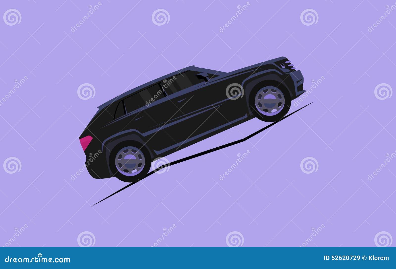 La voiture stylis e simple monte vers le haut de la montagne illustration de vecteur image - Dessin voiture stylisee ...