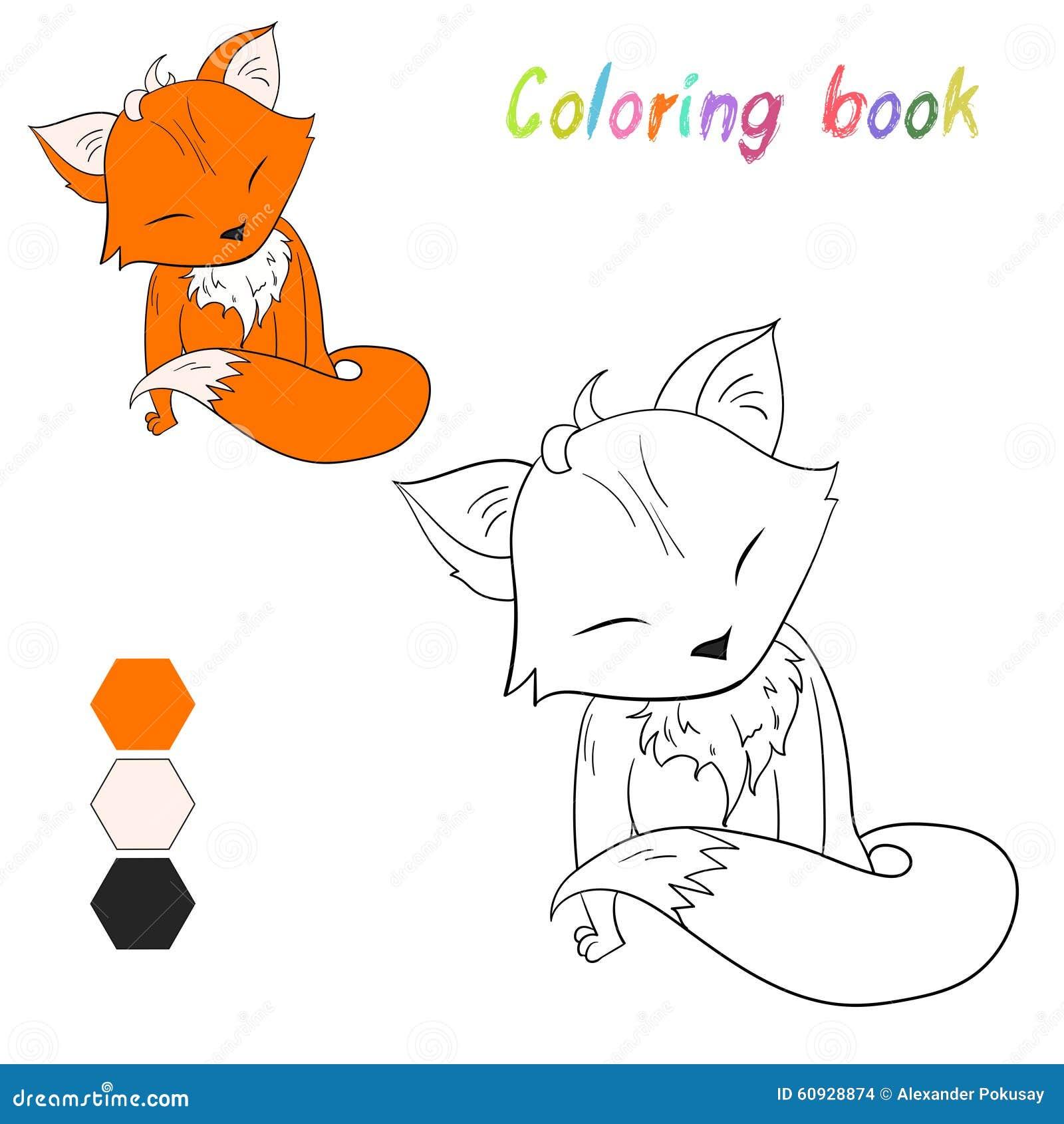 La Volpe Del Libro Da Colorare Scherza La Disposizione Per Il
