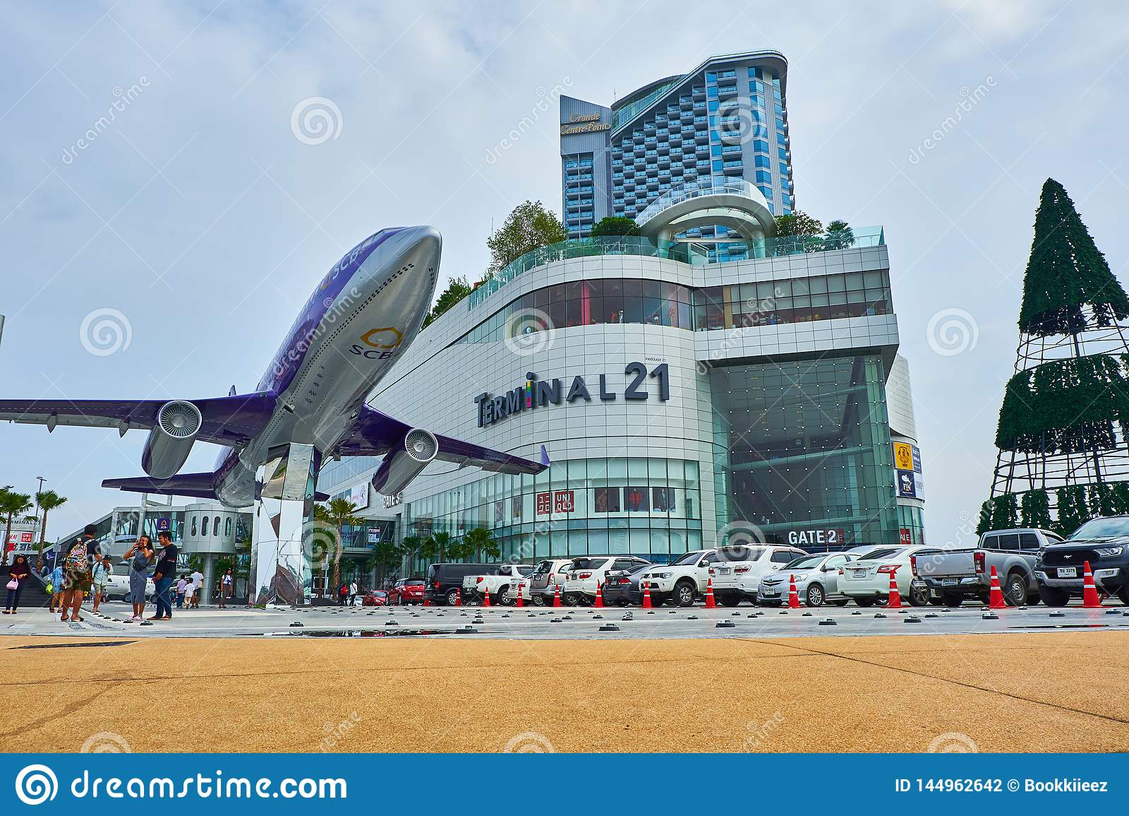 La vue de face du terminal 21 Pattaya de centre commercial