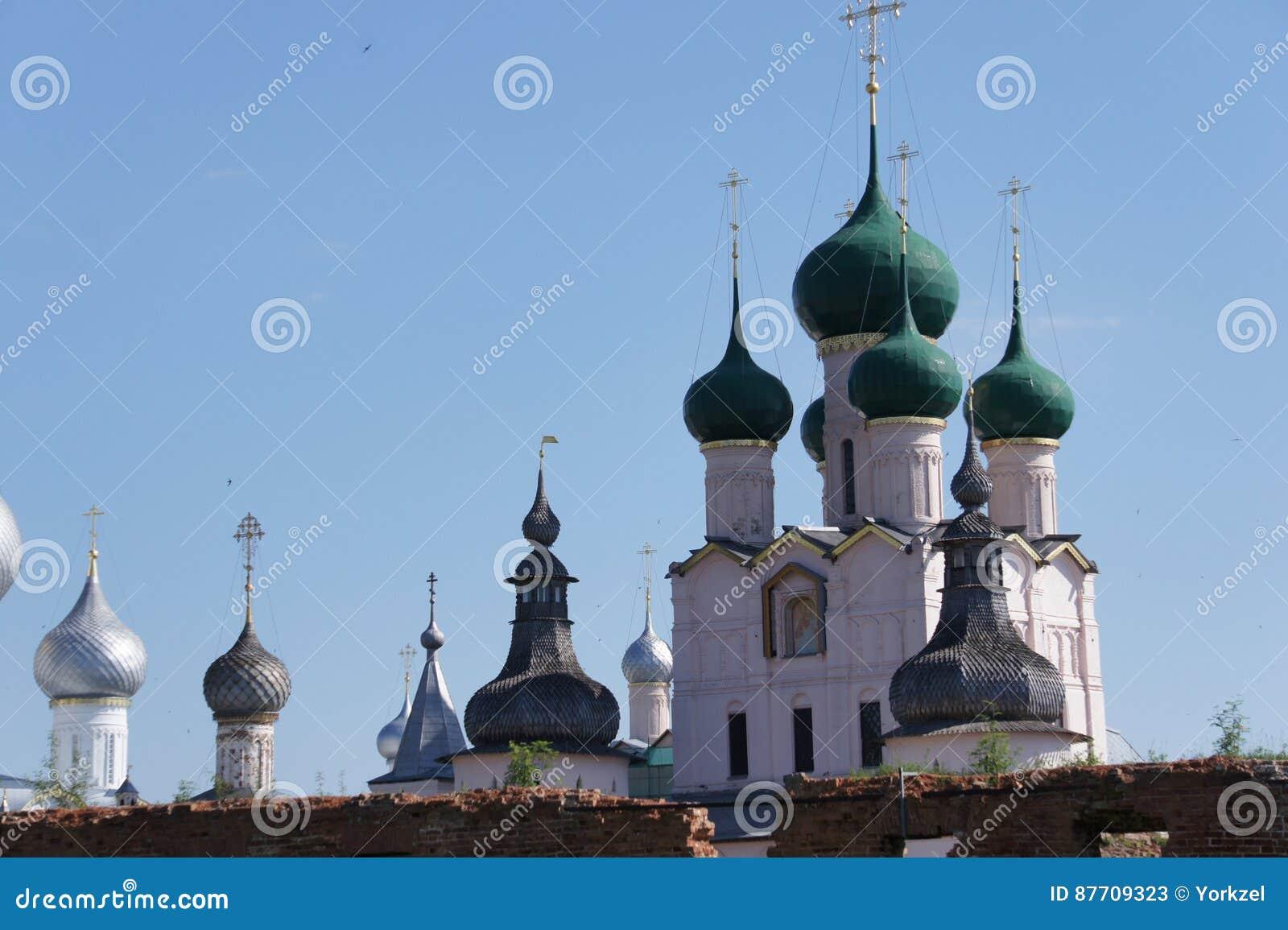 La vue de l anneau d or de la Russie - la ville de Rostov Veliky dans la région de Yaroslavl