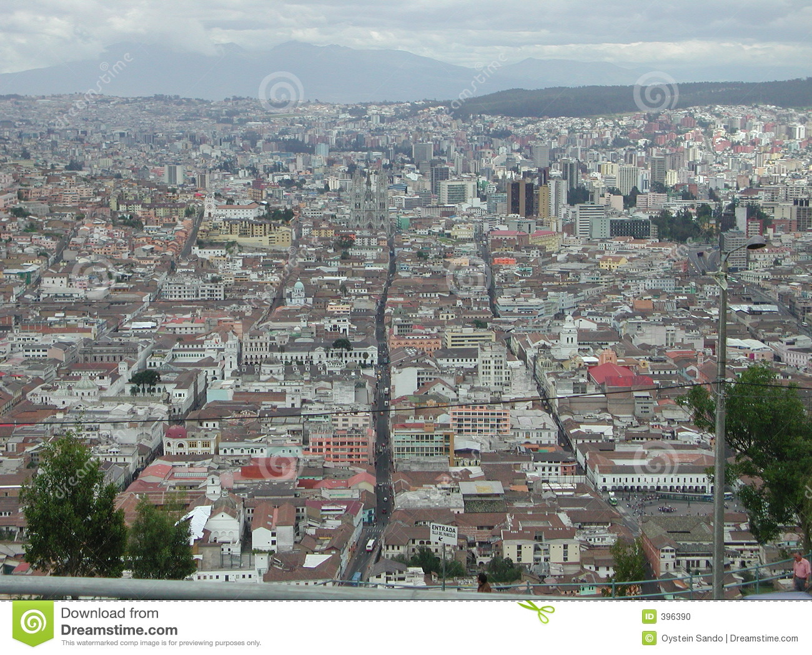 La vue de Quito