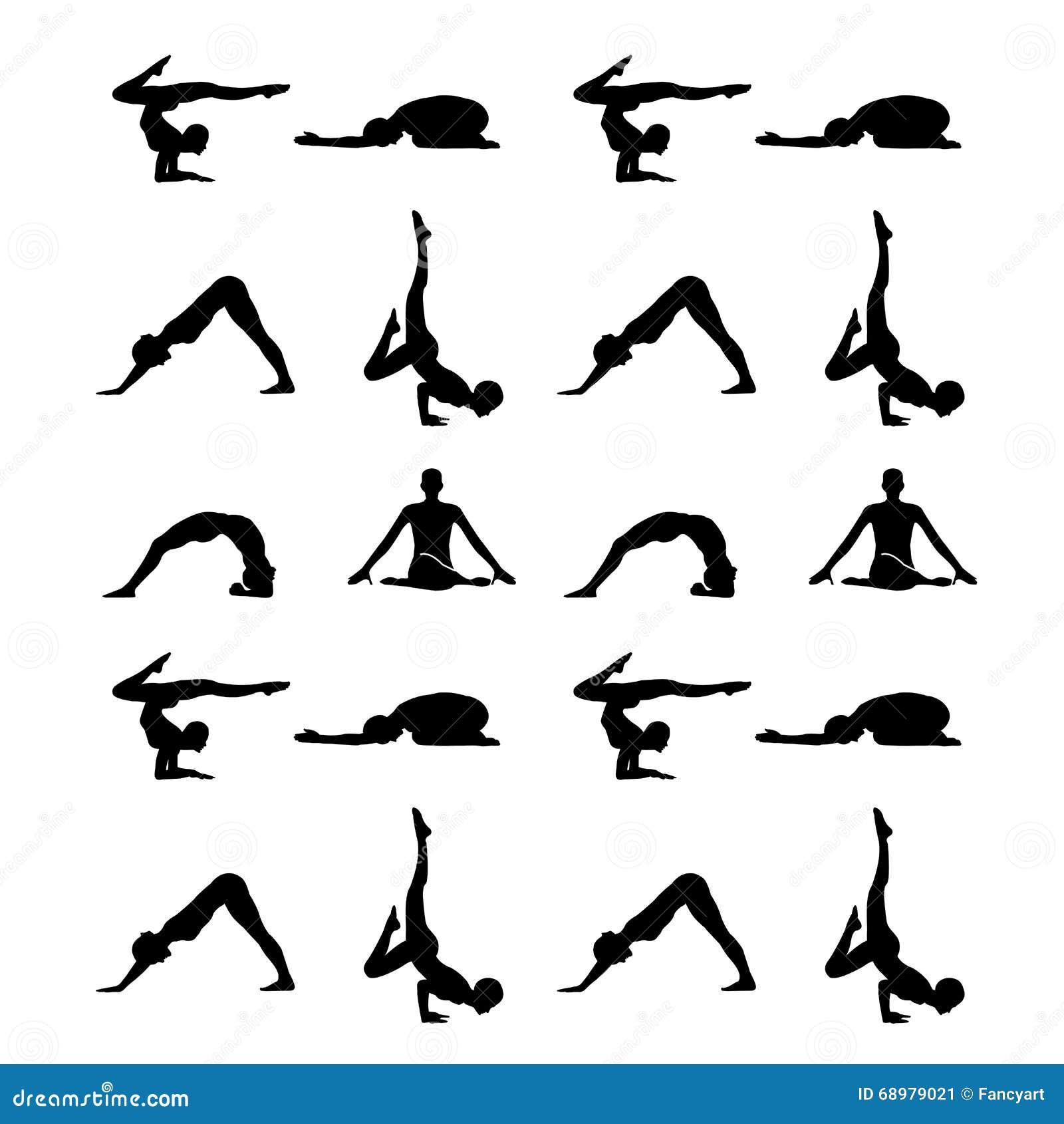 La yoga presenta la silueta