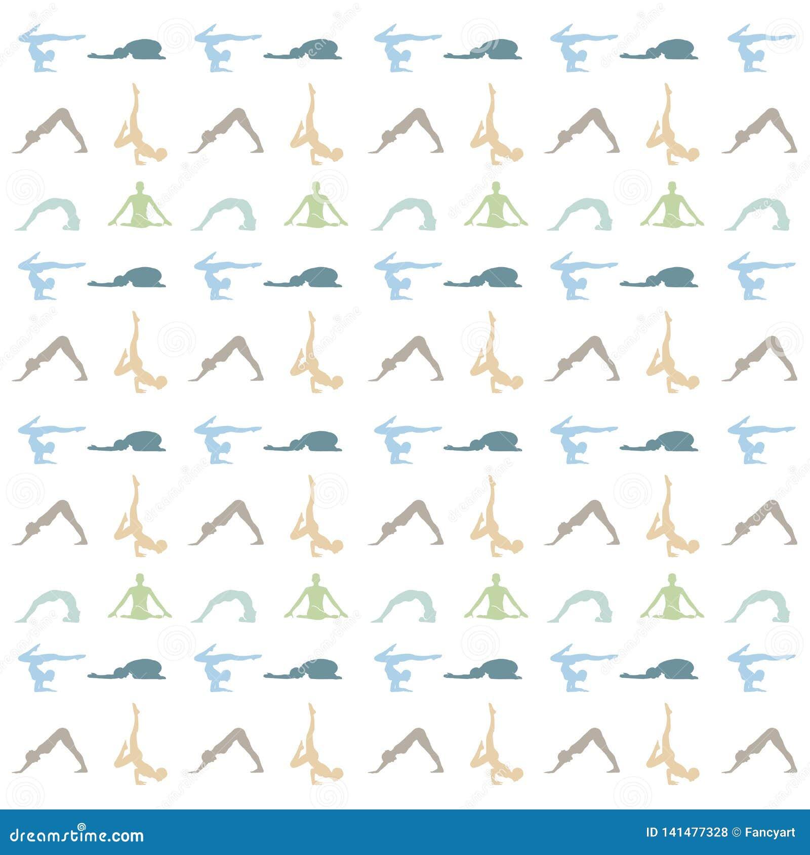 La yoga presenta o la meditación del fondo del asana y el fondo de la tranquilidad