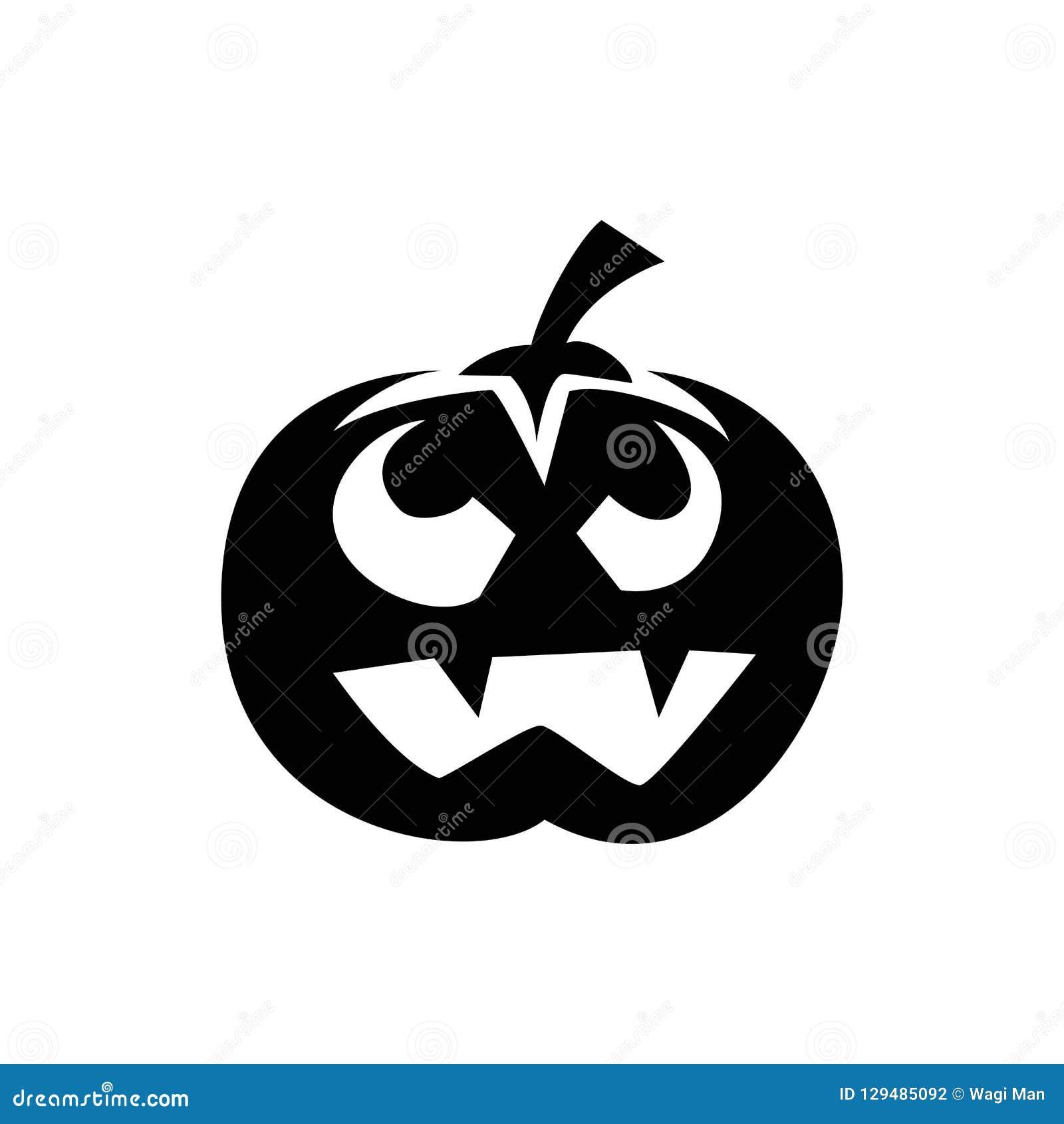 La zucca Halloween, siluetta di Halloween della zucca è semplice ma spettrale per l attributo di Halloween