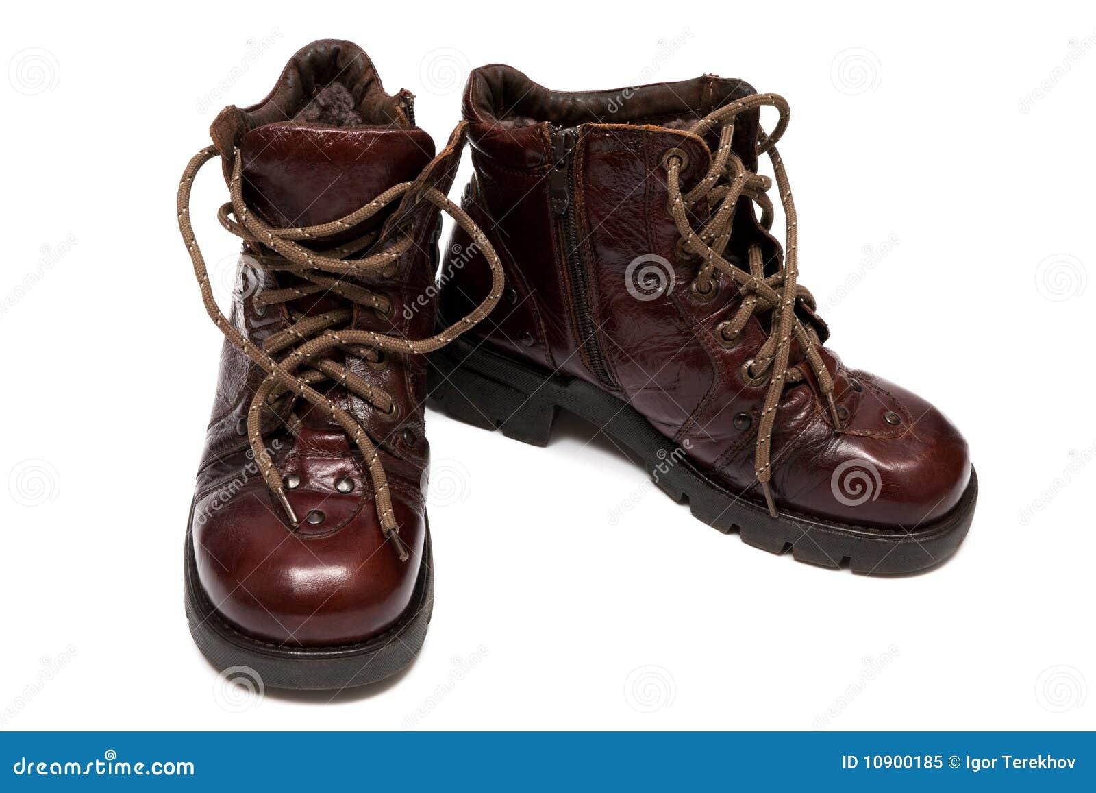 Laarzen op een dikke zool stock foto. Afbeelding bestaande
