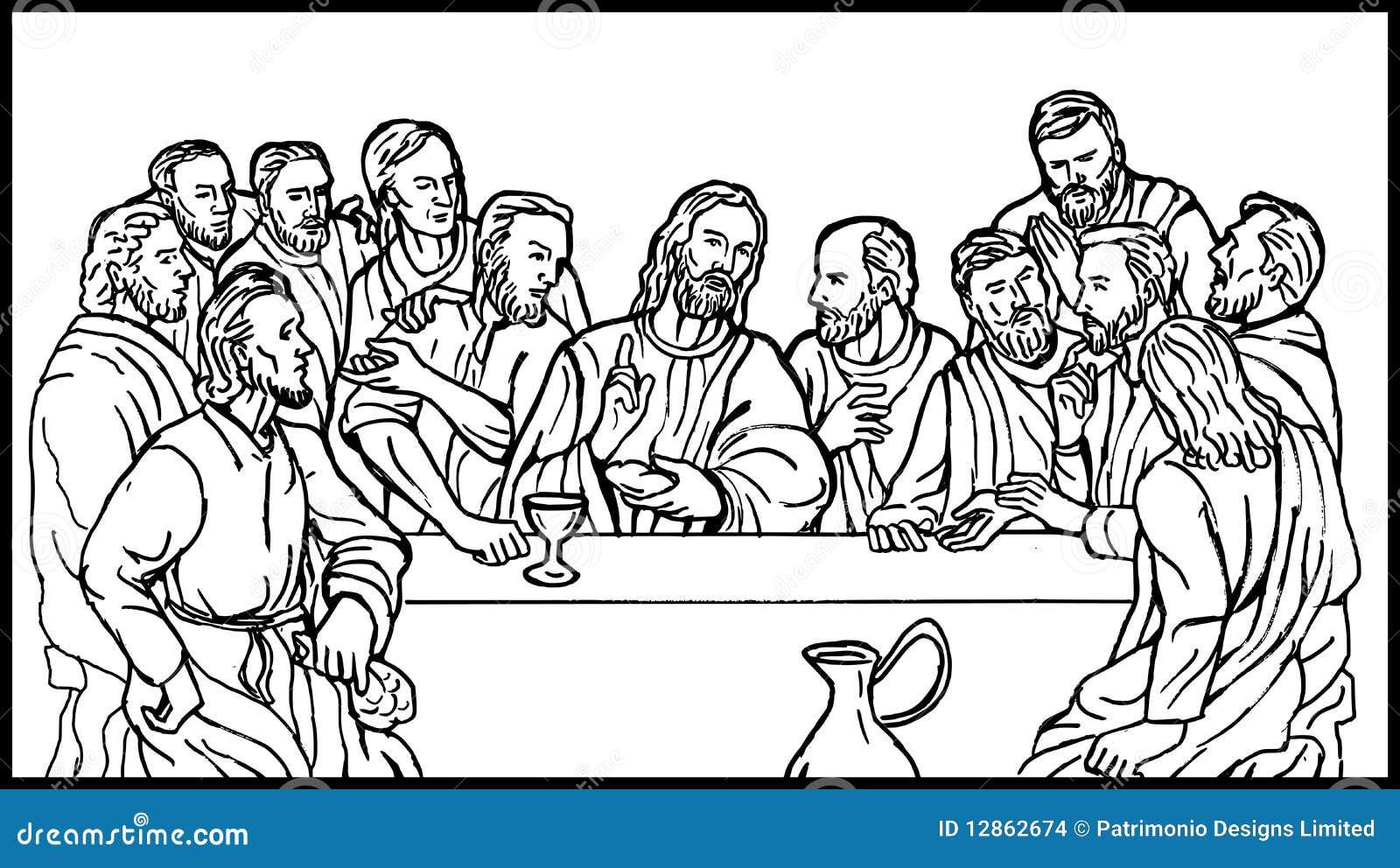 laatste avondmaal van de discipelen van jesus vector