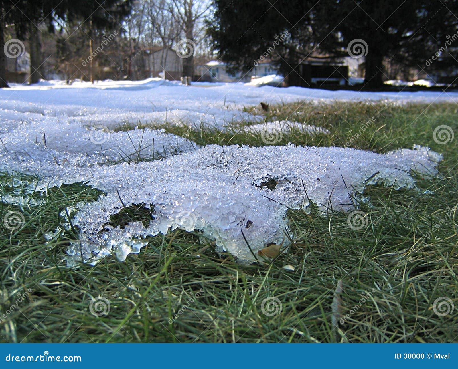 Laatste sneeuw van het seizoen