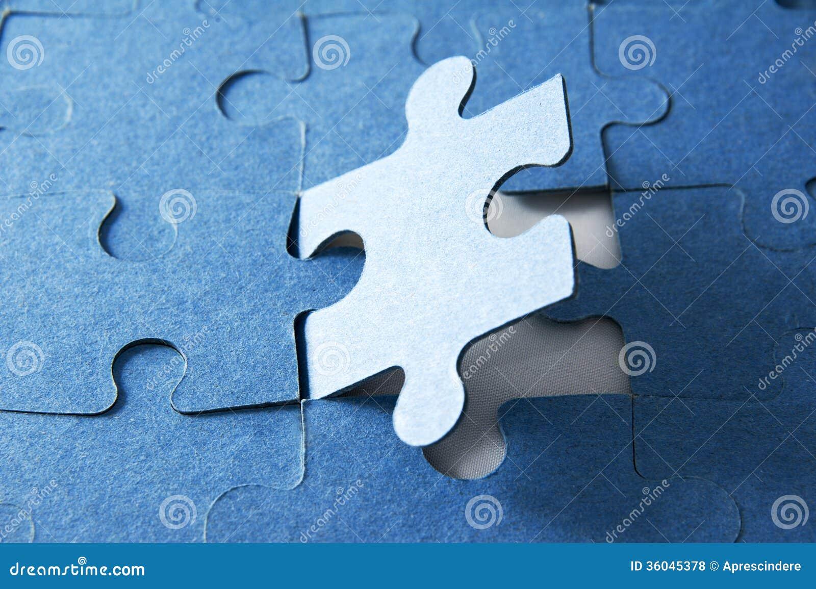 Laatste stuk van puzzel