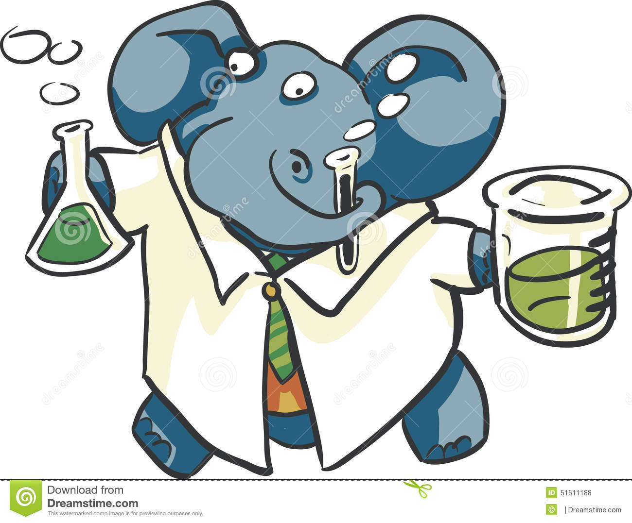 lab-elephants-scientist-elephant-beakers