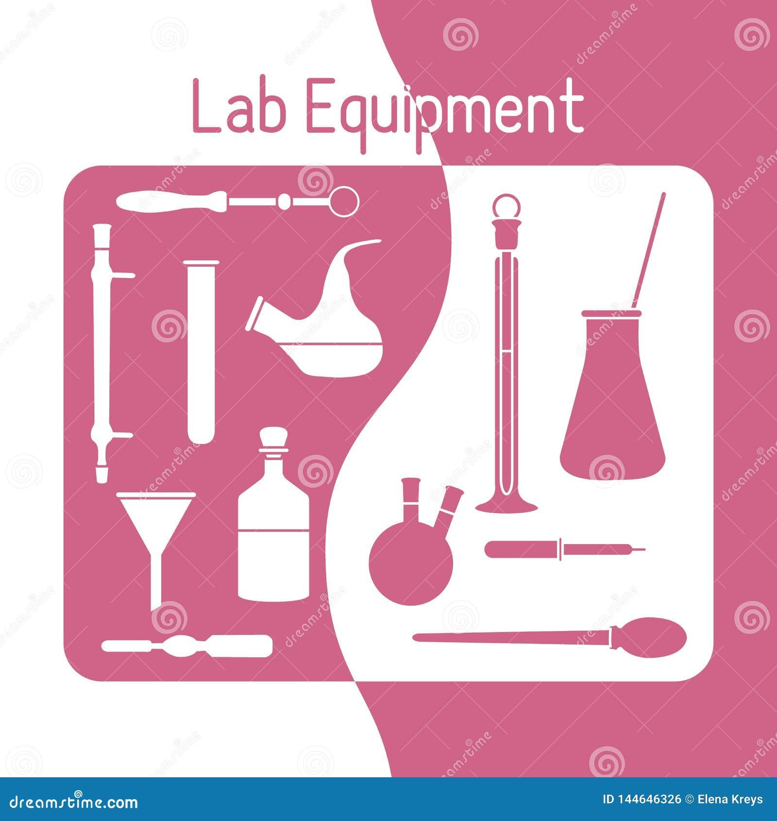 Lab Equipment Science Chemistry, Biology, Medicine Stock