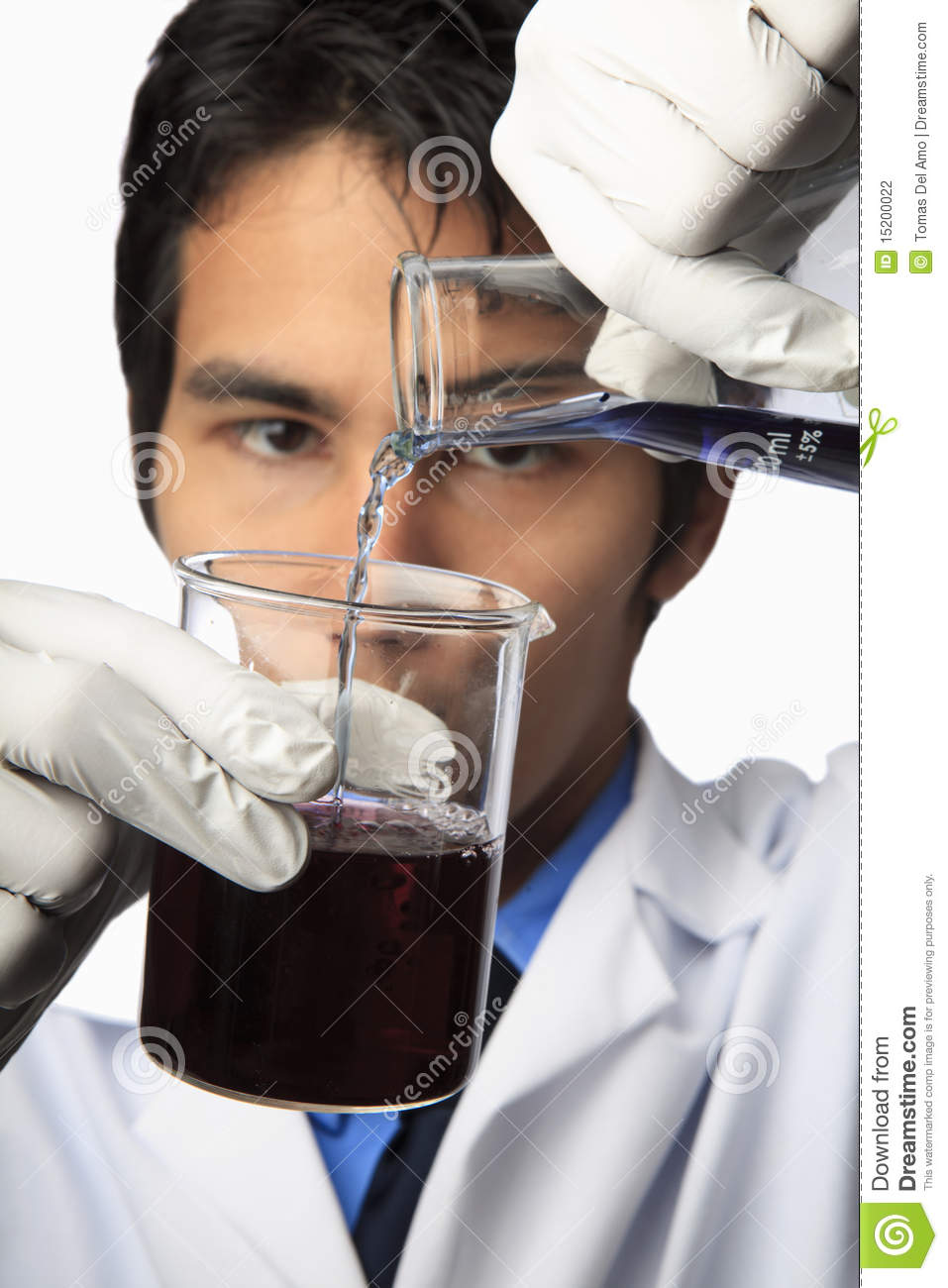 Lab Technician With Beaker And Flask Photography Image – Photo Lab Technician