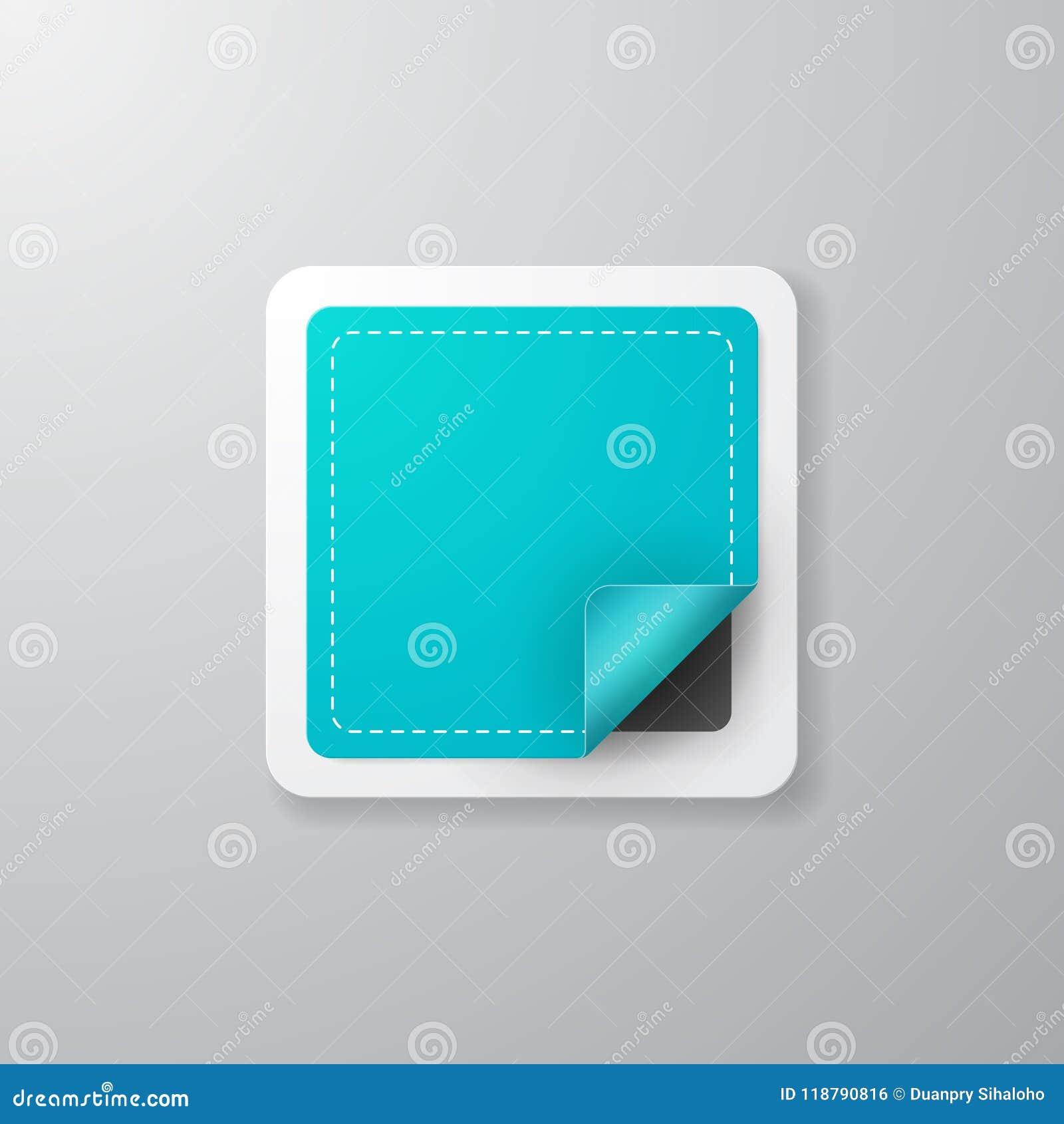 Label carré réaliste