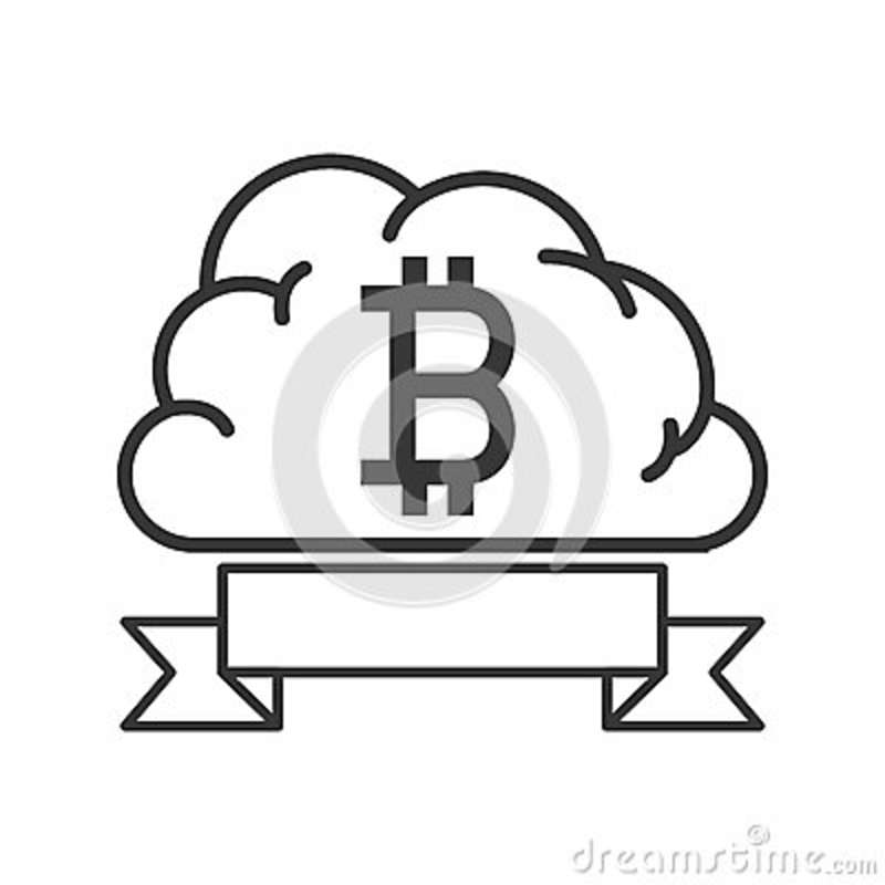 Label And Cloud With Currency Symbol Of Baht Thailand Stock Vector