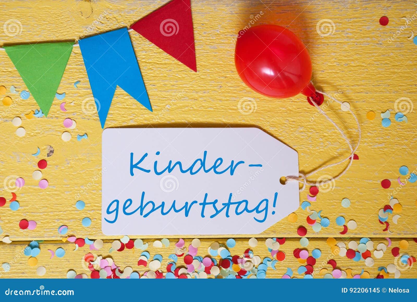Label, Confetti, Balloon, Kindergeburtstag Means Children