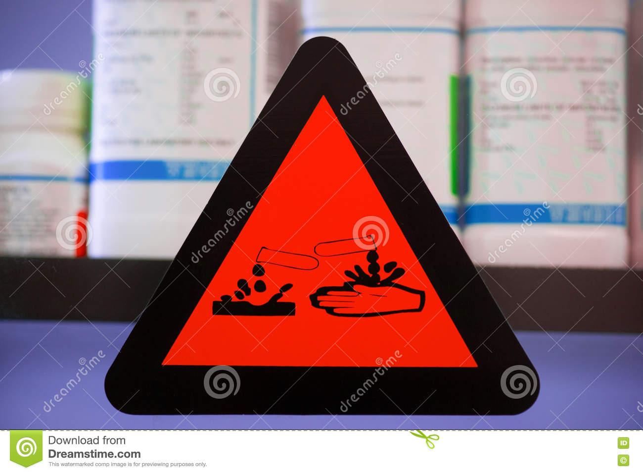 Label Corrosive Chemicals Stock Image Image Of Painted 79014631