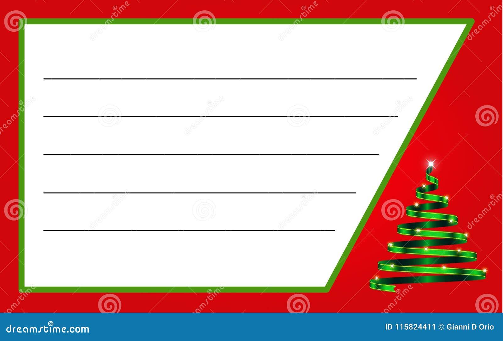Label de Noël avec le ruban sous forme d arbre et espace pour le texte