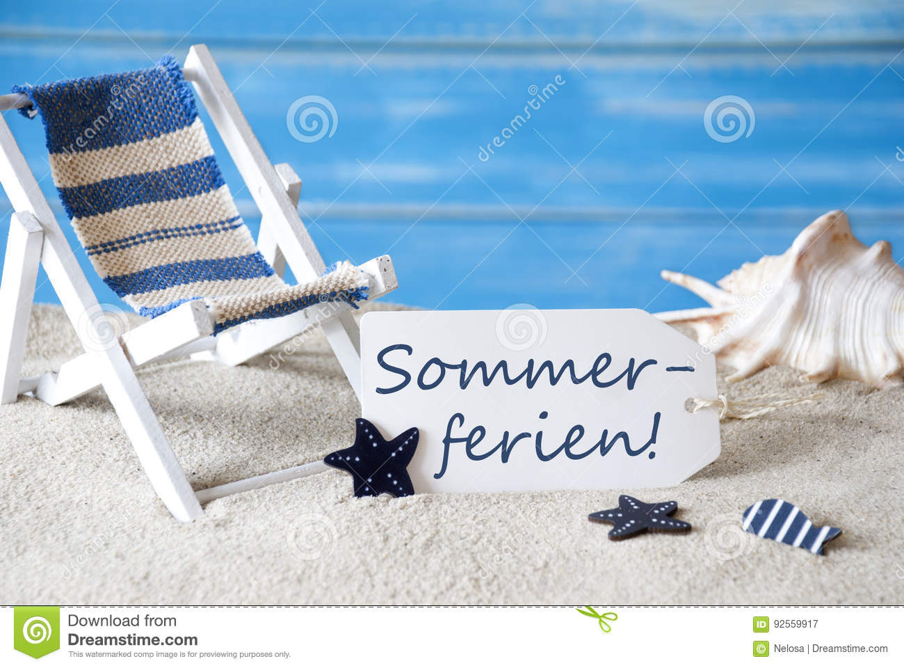 Label with deck chair sommerferien means summer holidays stock download label with deck chair sommerferien means summer holidays stock image image of sand m4hsunfo